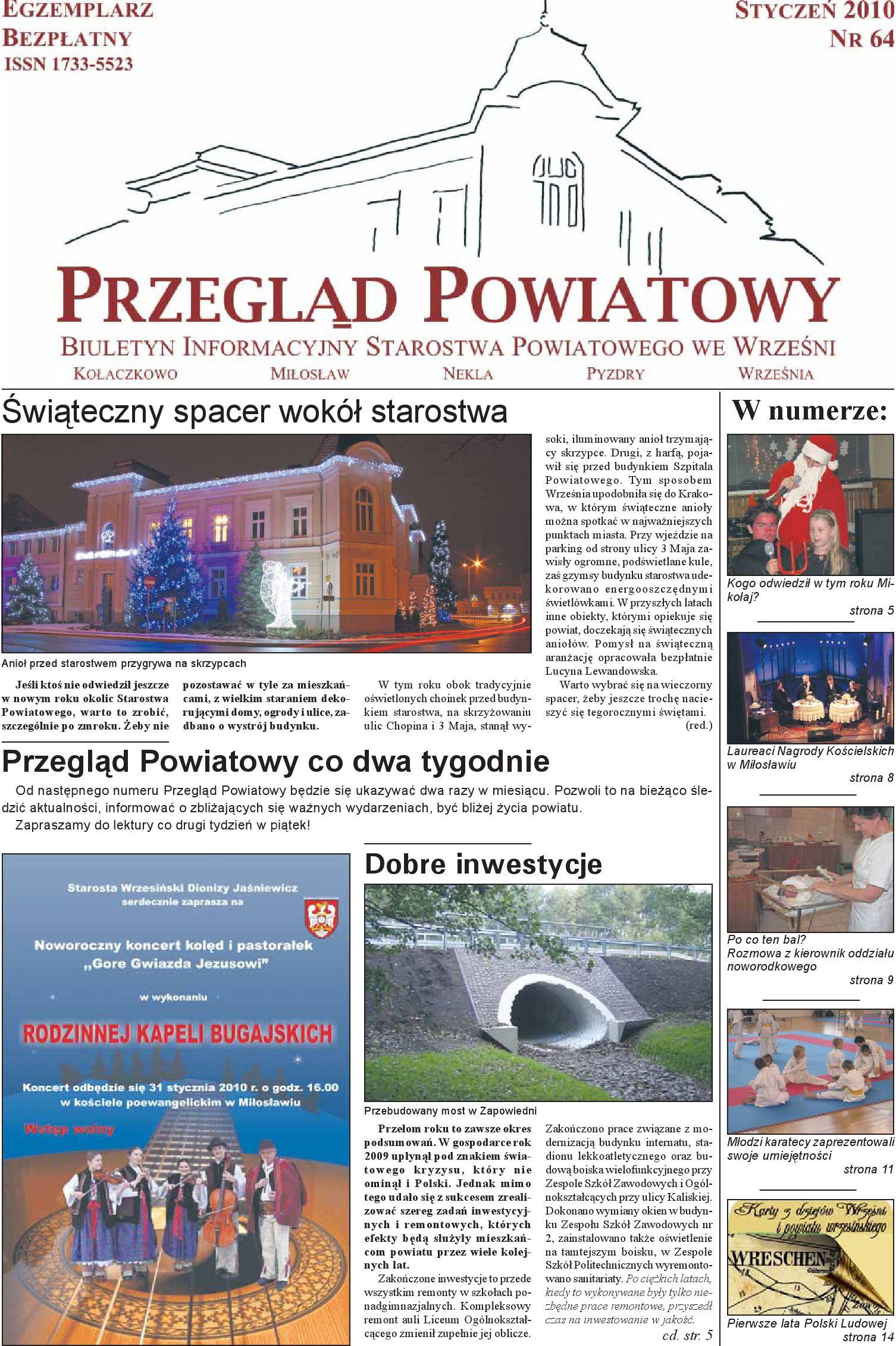 Przegląd Powiatowy Nr 64 Styczeń 2010 By Starostwo
