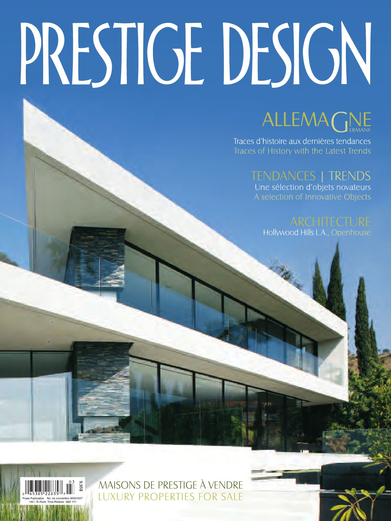 Prestige design magazine vol 6 num 3 by prestige design for Maison moderne high tech