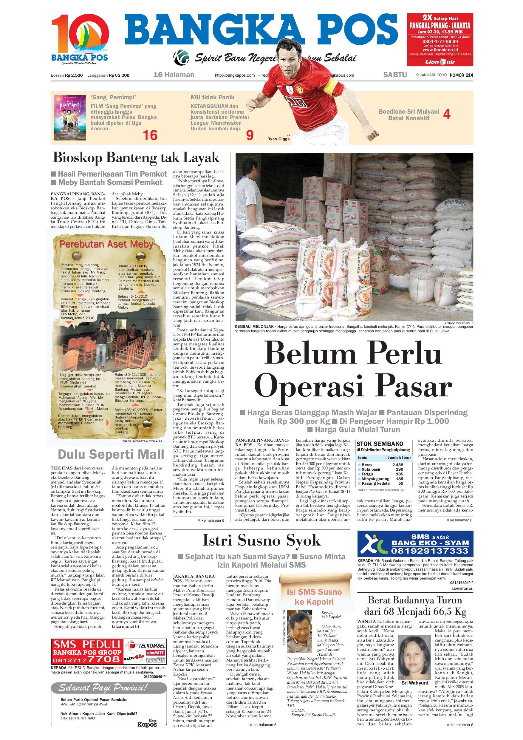 Harian Pagi Bangka Pos Edisi 09 Januari 2010 by bangka pos - issuu f43f3a5187