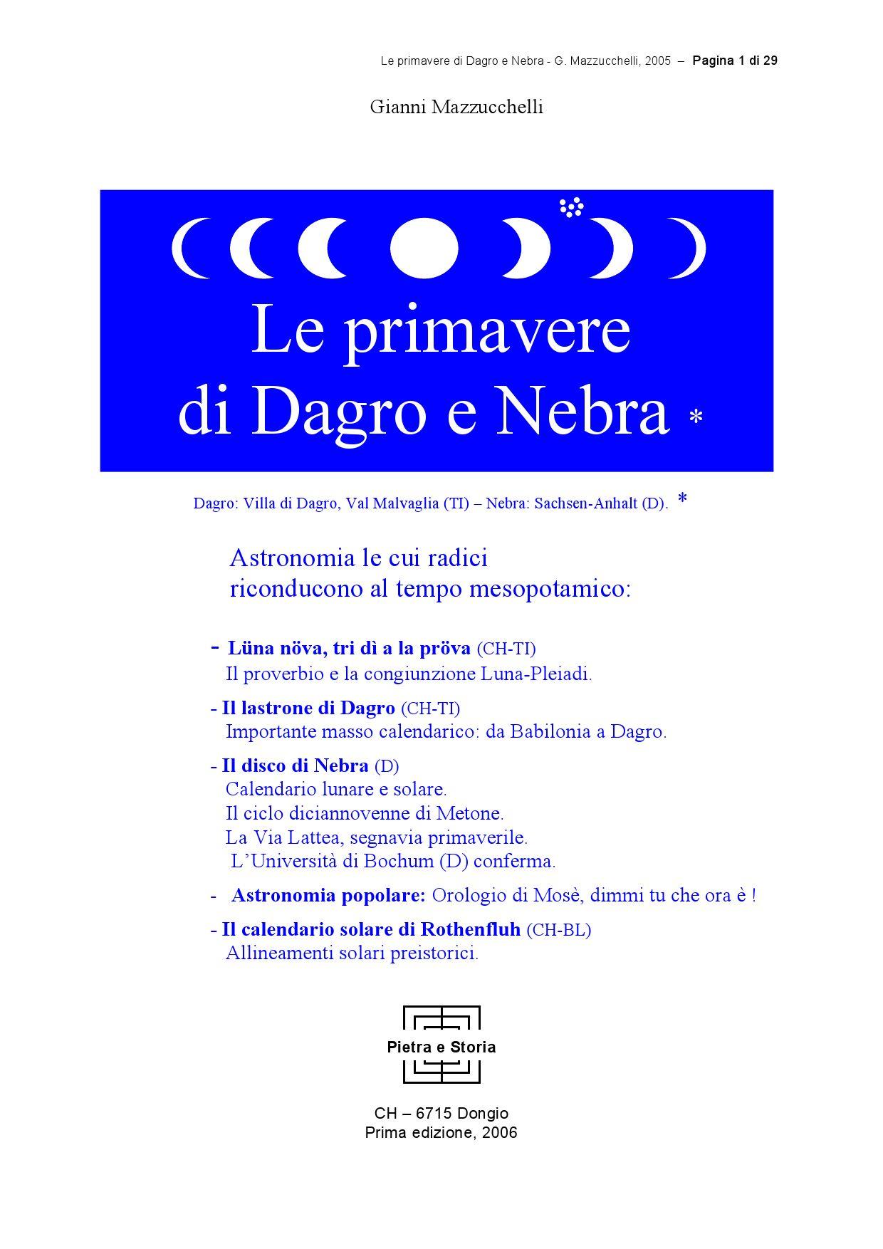 Calendario Lunare 2005.Le Primavere Di Dagro E Nebra By Andrea Uccelli Issuu