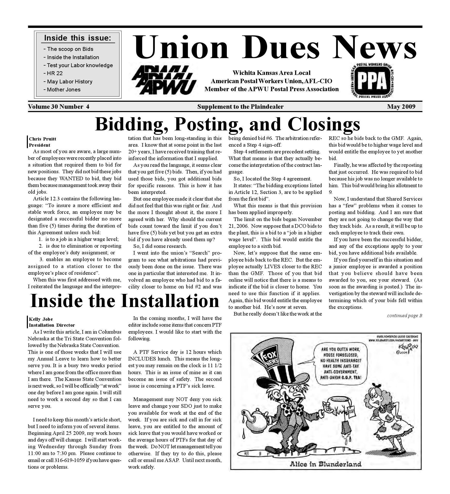 APWU insert, Plain Dealer, 05/2009 by Larry Wilson - issuu