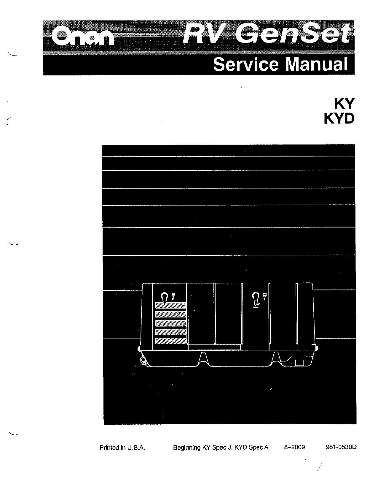 Onan Cummins Genset KY KYD 4KW Service Manual by Ripper Jim - issuu
