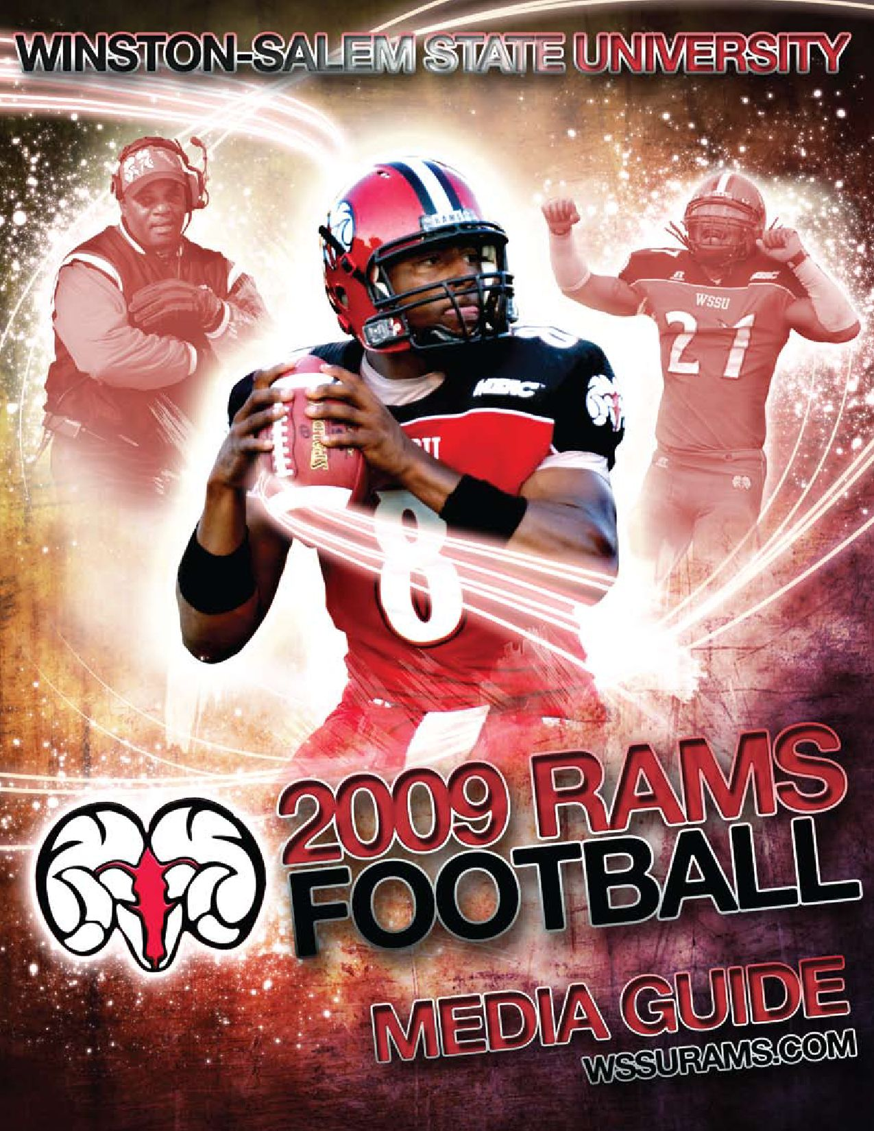 Hot 2009 WSSU Football Media Guide by Winston Salem State University