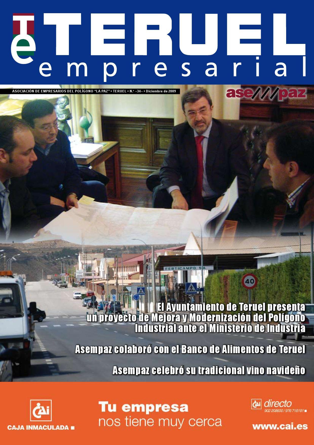 Teruel Empresarial N 34 By Asempaz Asoc De Empresarios Del  # Muebles Jover Teruel