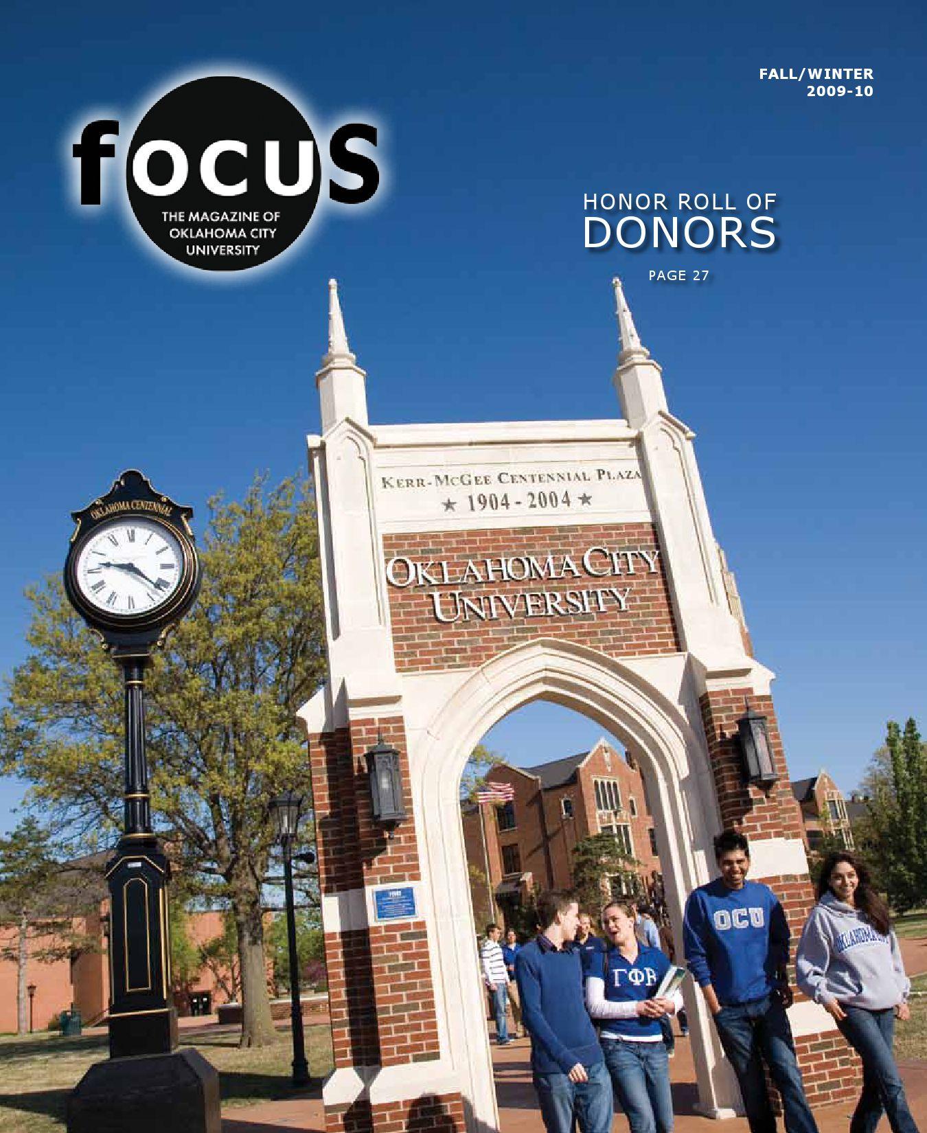 FOCUS Magazine - Winter 2009 by Oklahoma City University - issuu