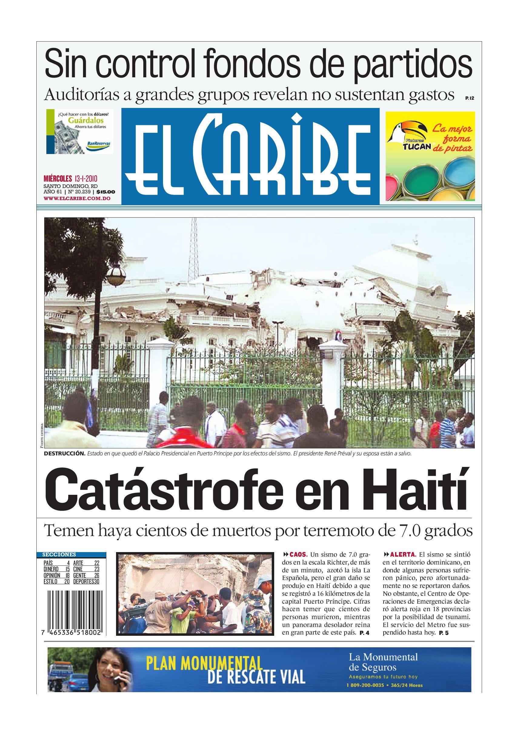 Elcaribe- Edición Impresa 130110 by Multimedios del Caribe