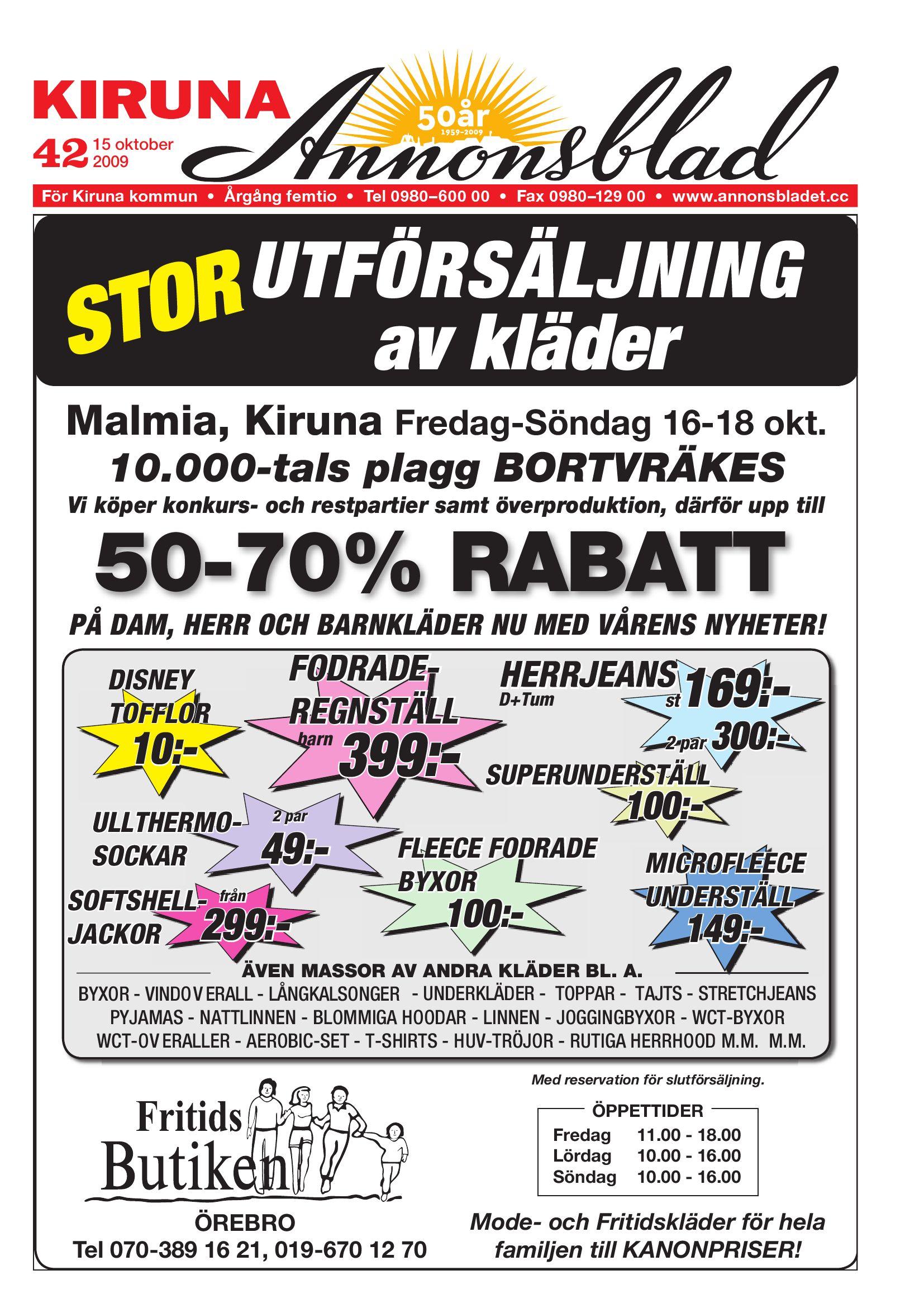 Kiruna Annonsblad 2009 v.42 by Svenska Civildatalogerna AB - issuu 0b7913204bc62