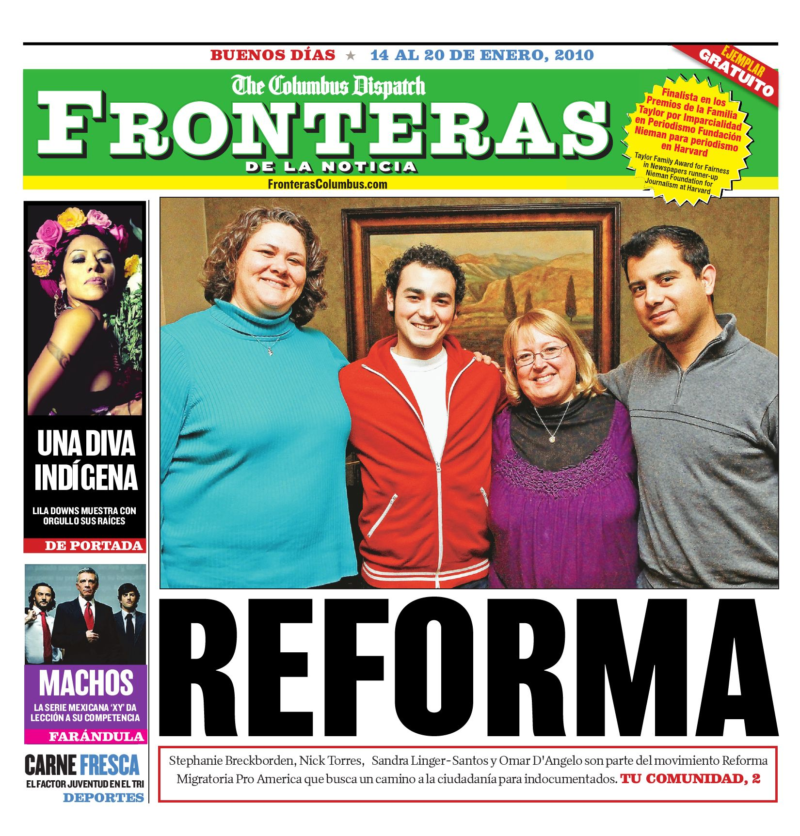 Fronteras Columbus: January 14-20, 2010 by The Columbus Dispatch - issuu