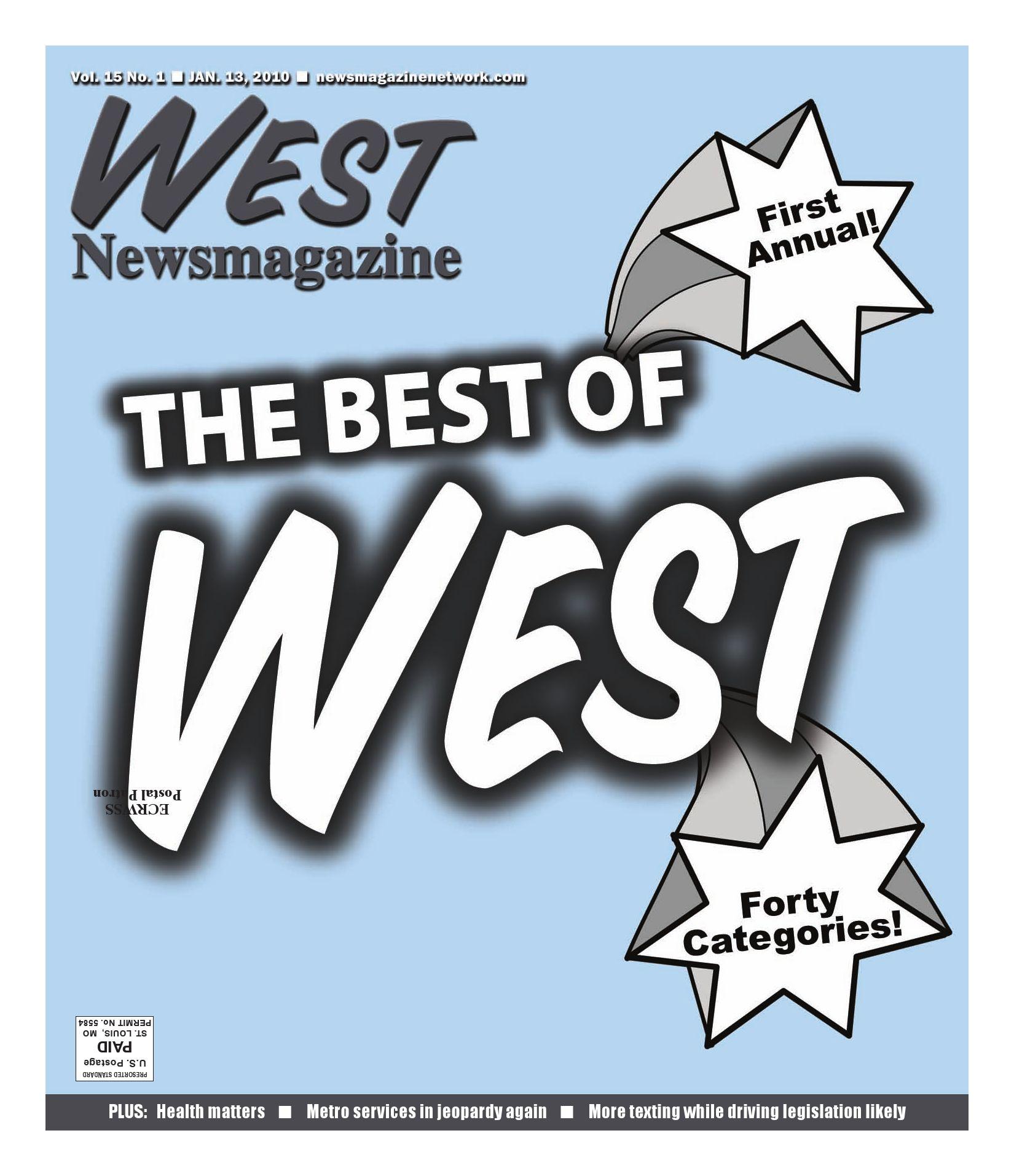 West Newsmagazine January 13 2010 by Newsmagazine Network issuu