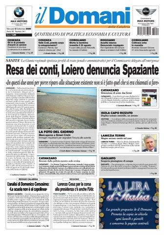 Mercoledì 2 Settembre 2009 Anno XII - Numero 241 Euro 1 20e7c03957f