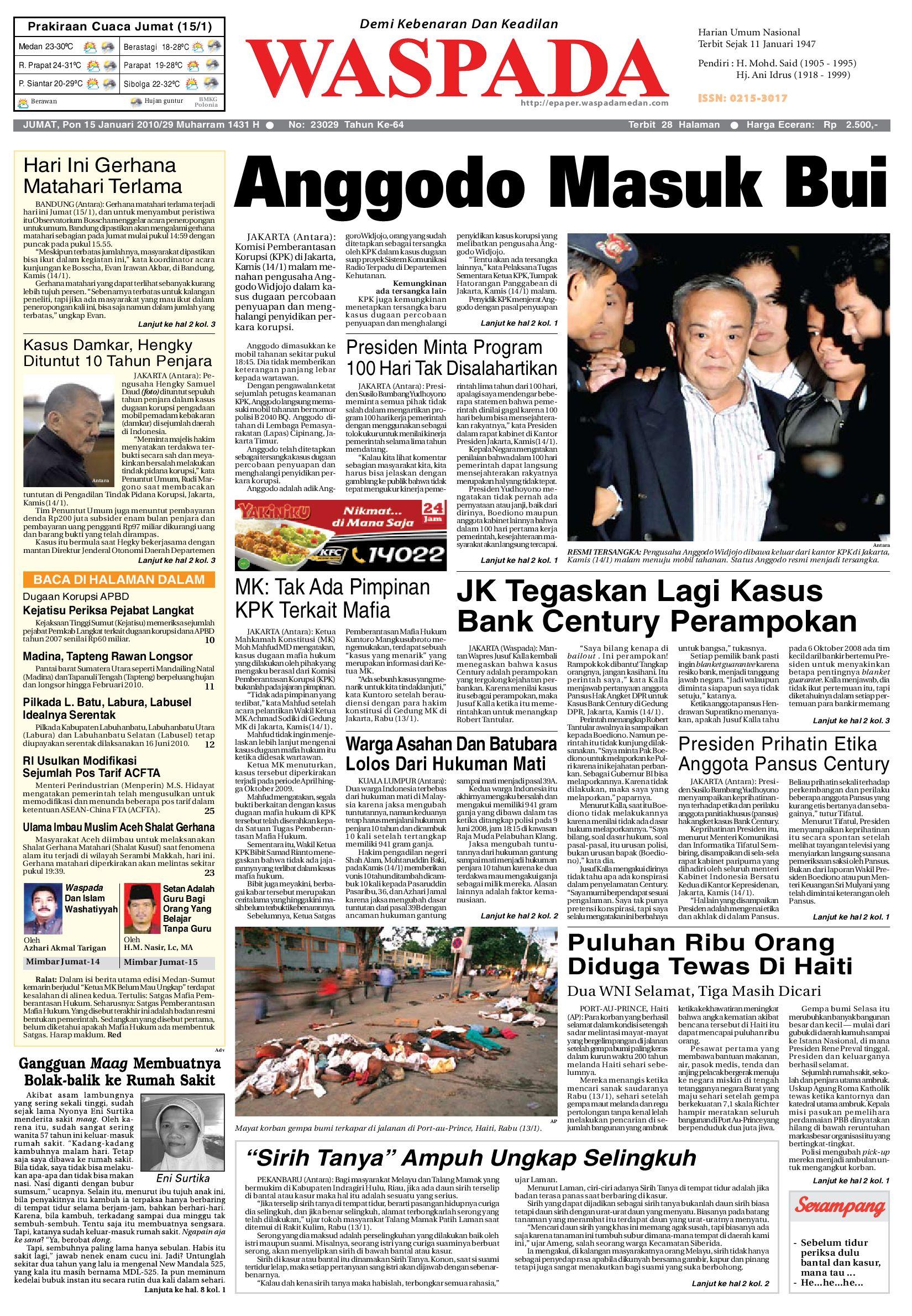 Waspada, Jumat 10 Januari 10 by Harian Waspada   issuu
