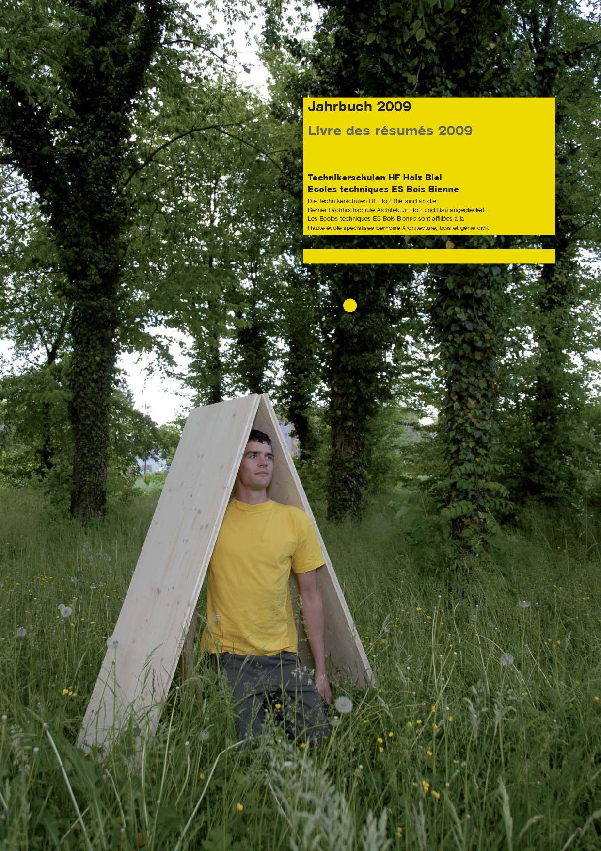 Jahrbuch HF Holz 2009 by Martin Wiederkehr issuu