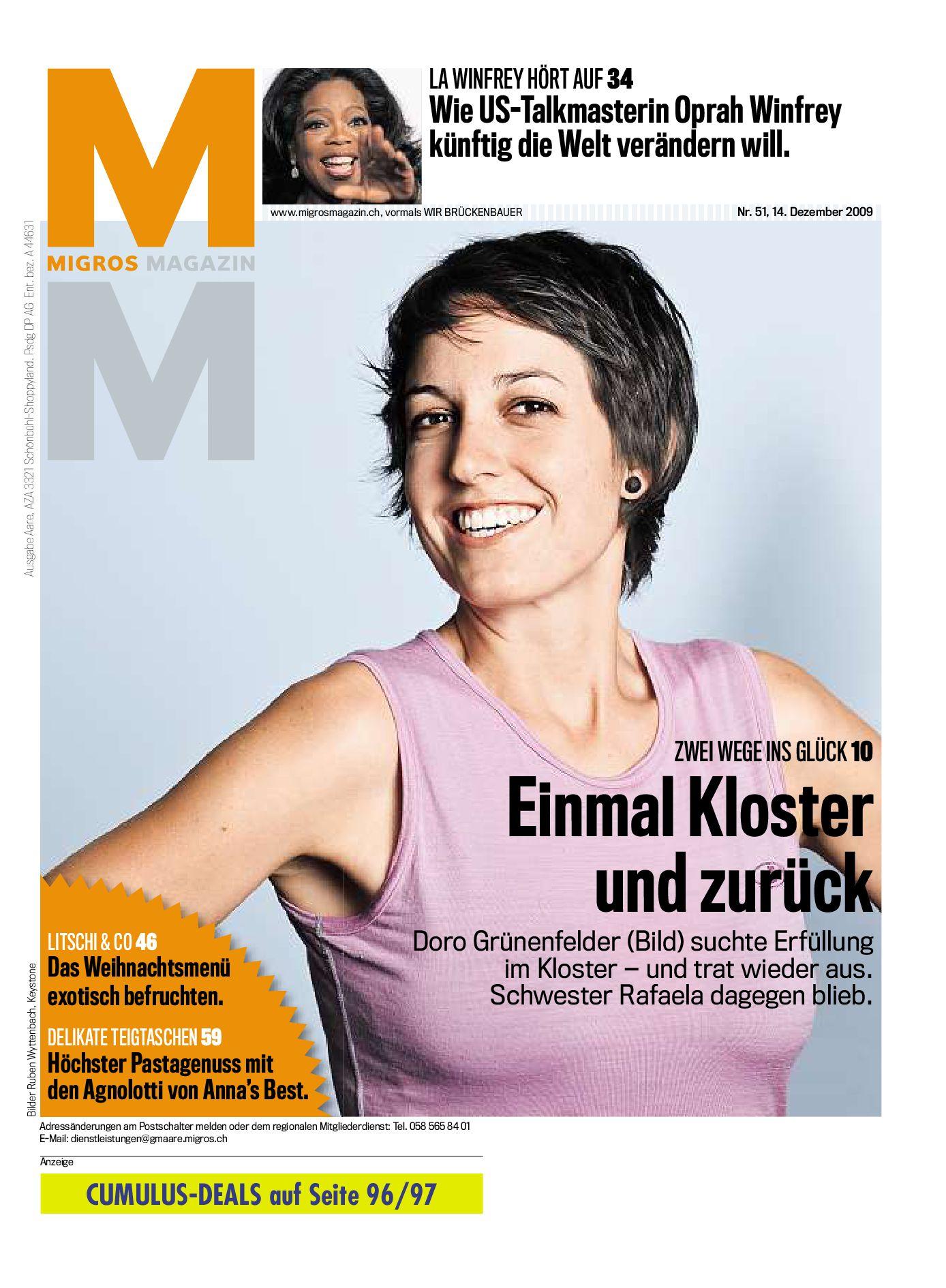 Migros Magazin 51 2009 d LU by Migros-Genossenschafts-Bund - issuu