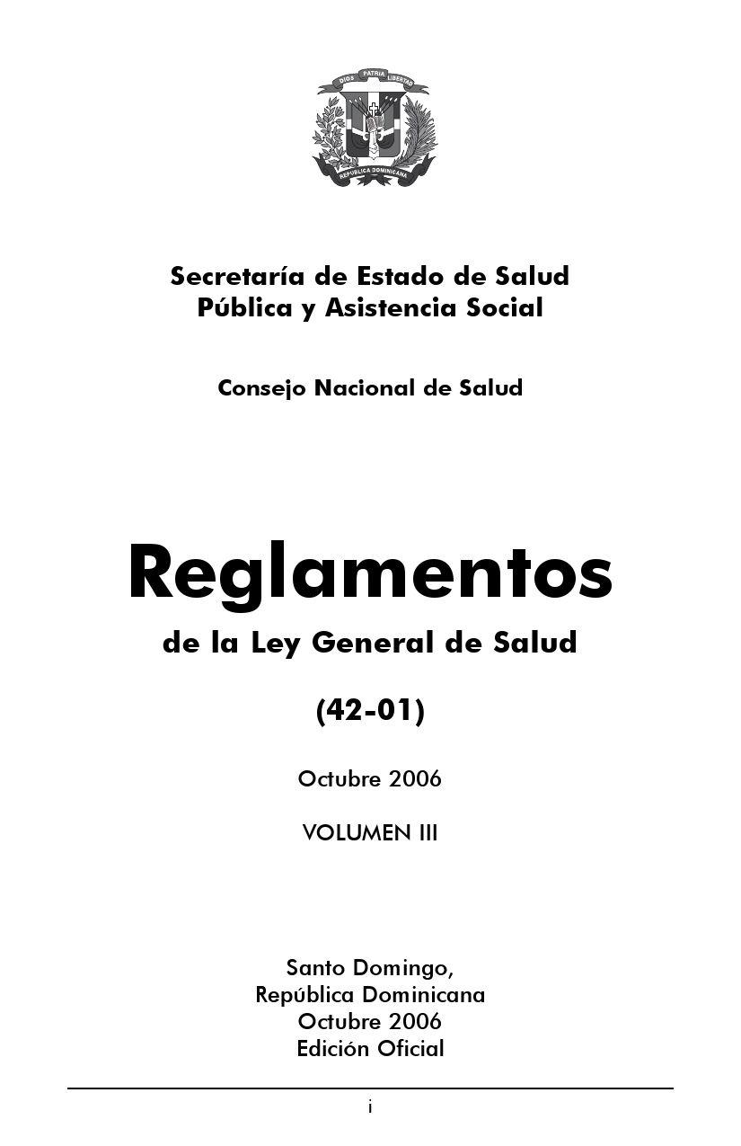 reglamento_vol_iii by CERSS Centro de Documentacion - issuu