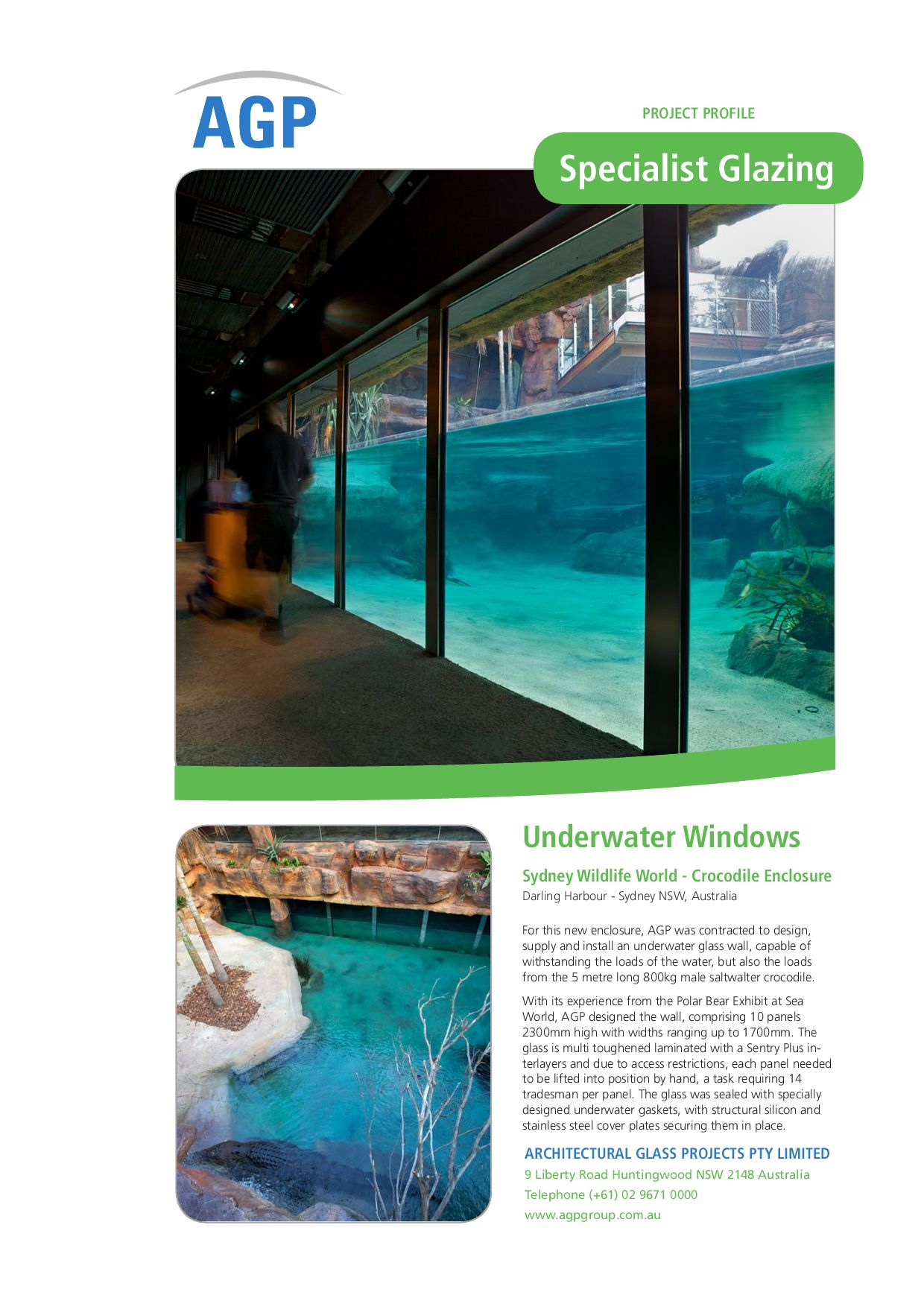 AGP Underwater & Floor Glazing by AGP Pty Limited - issuu