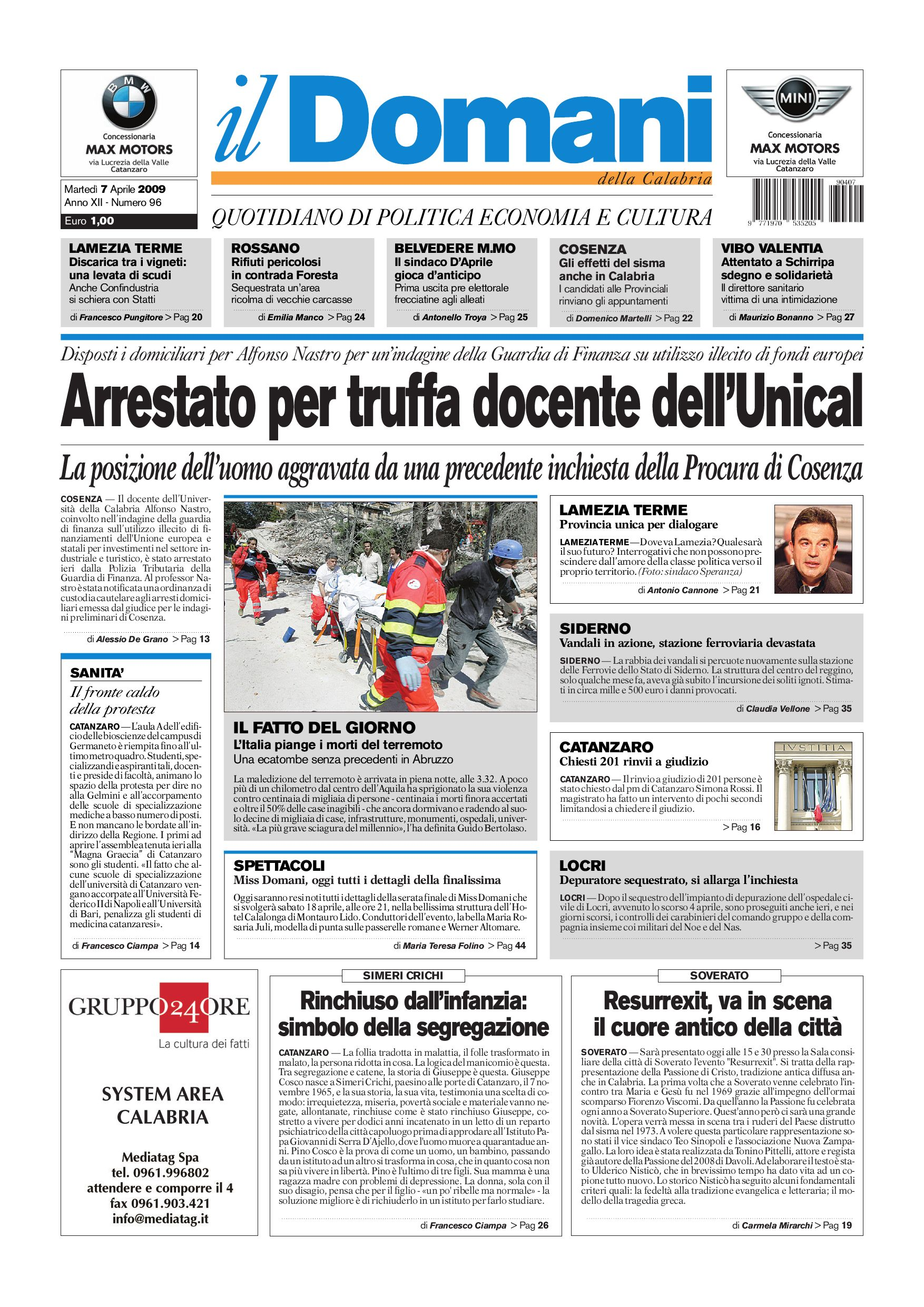 Unical Farmacia Calendario Accademico.Il Domani By T P Editori Il Domani Issuu