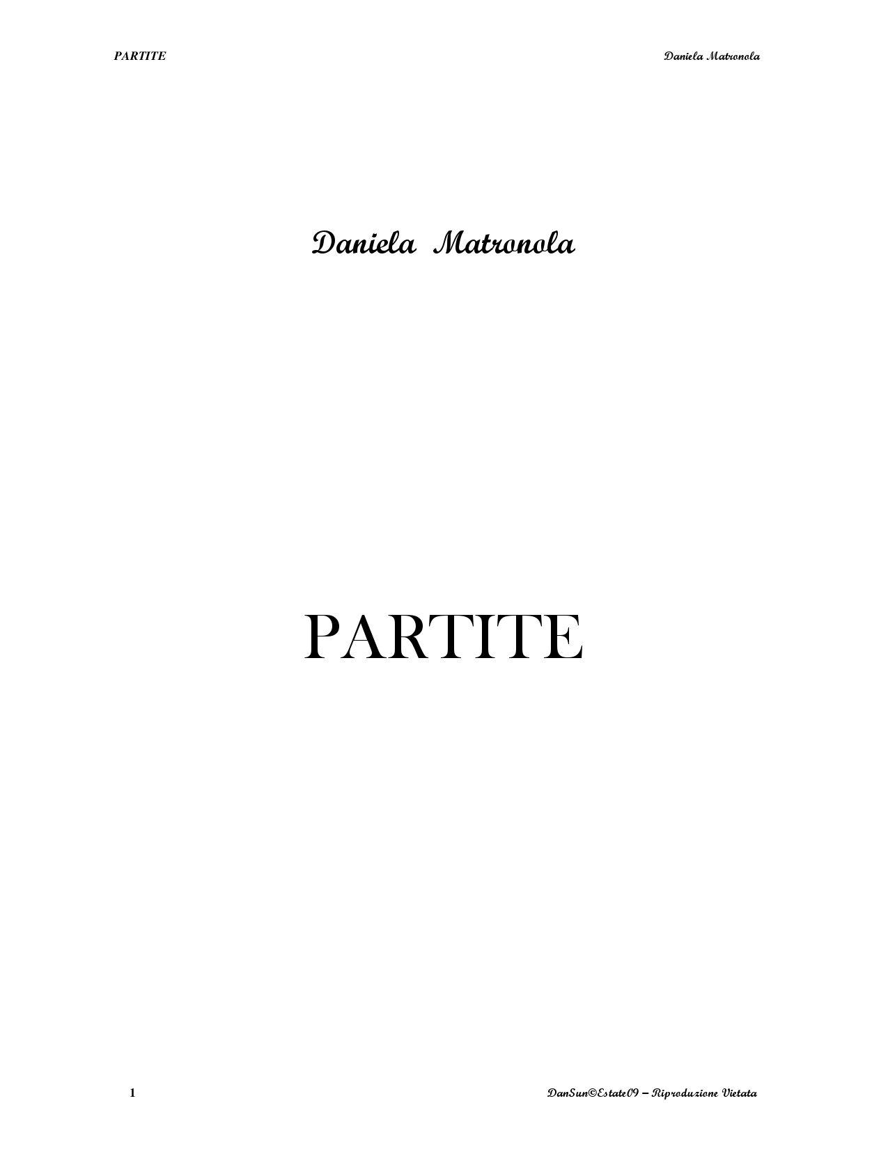 a6ac002588 PARTITE by Daniela Matronola - issuu