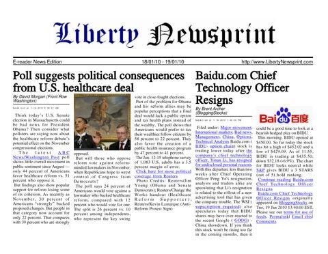 Liberty Newsprint Jan-19-10 by Liberty Newspost - issuu