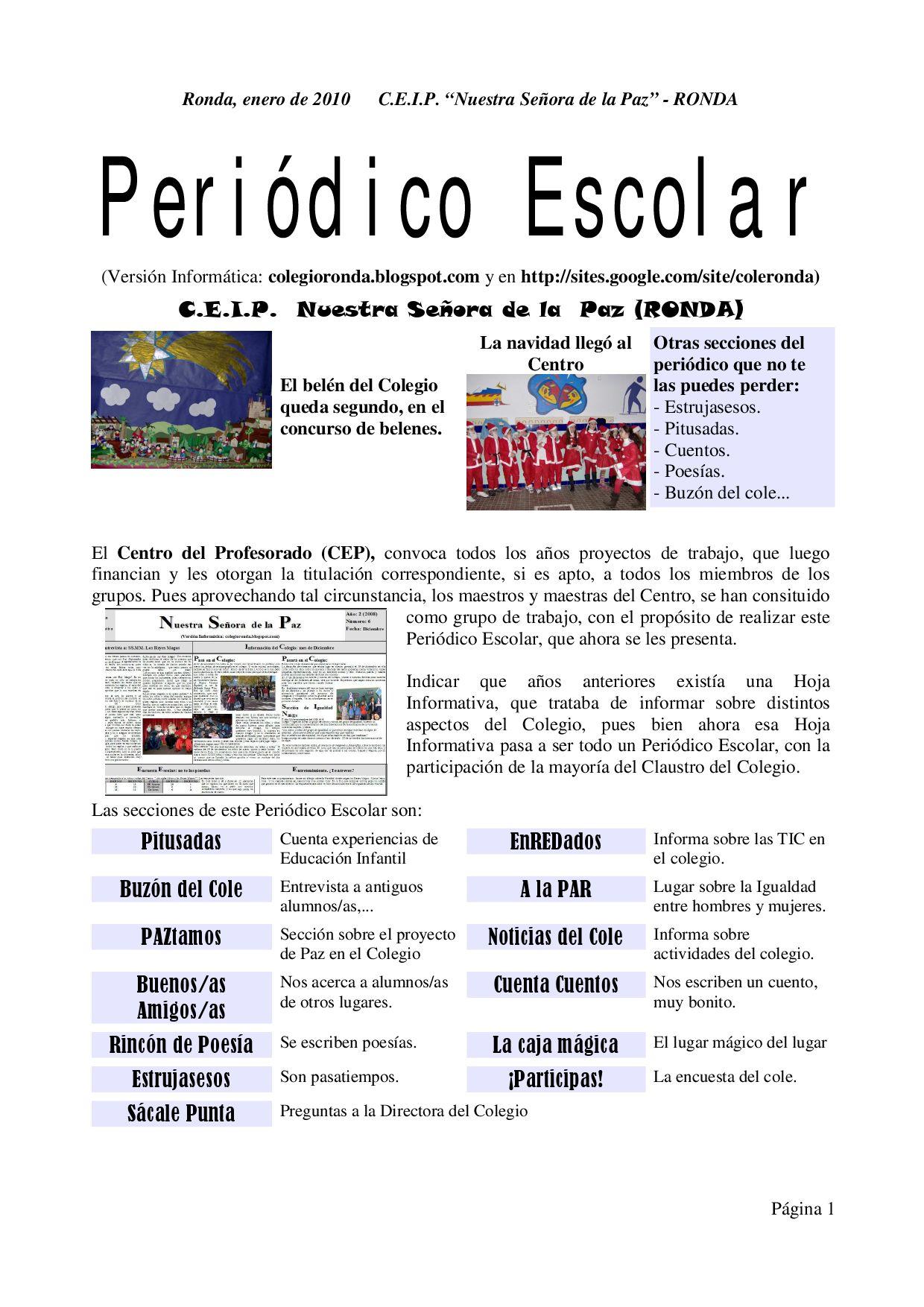 Periodico escolar enero 2010 by javi puerto issuu for Funcion de un vivero escolar