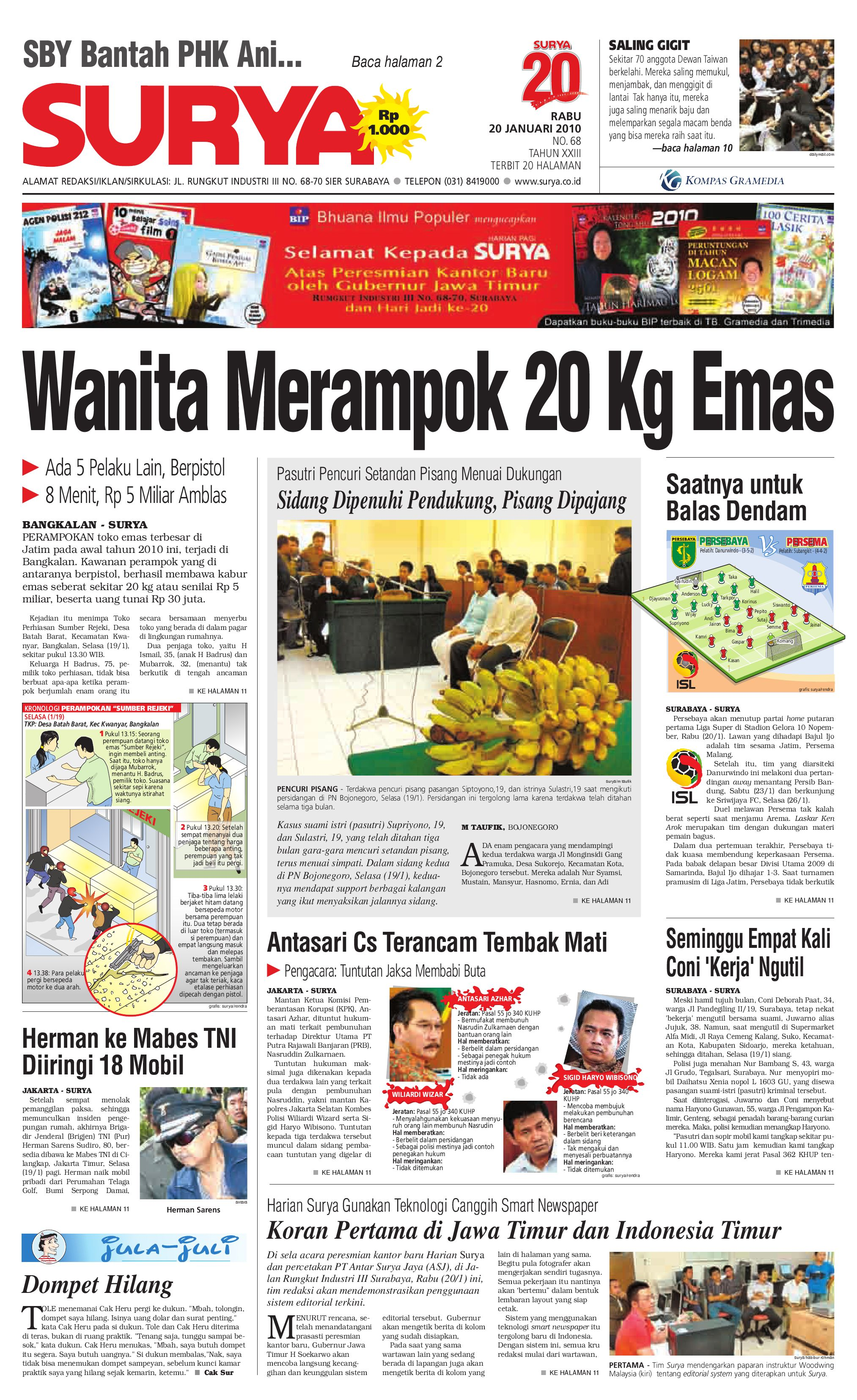 Surya Edisi Cetak 20 Jan 2010 By Harian Issuu Kopi Bubuk Hitam Kapal Api Tanpa Gula 10x6 5 Gram