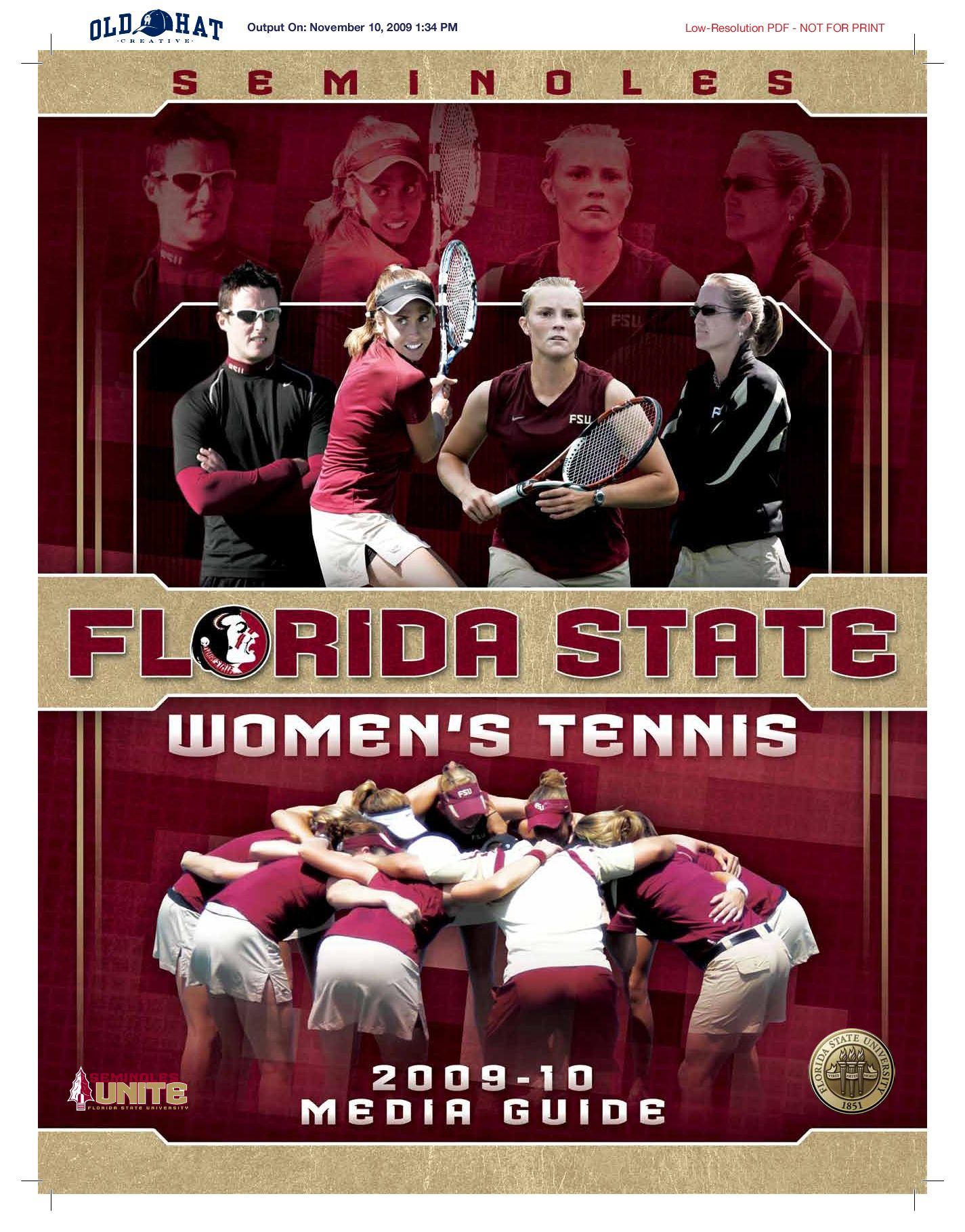 2010 Florida State Women's Tennis Media Guide by Florida ...