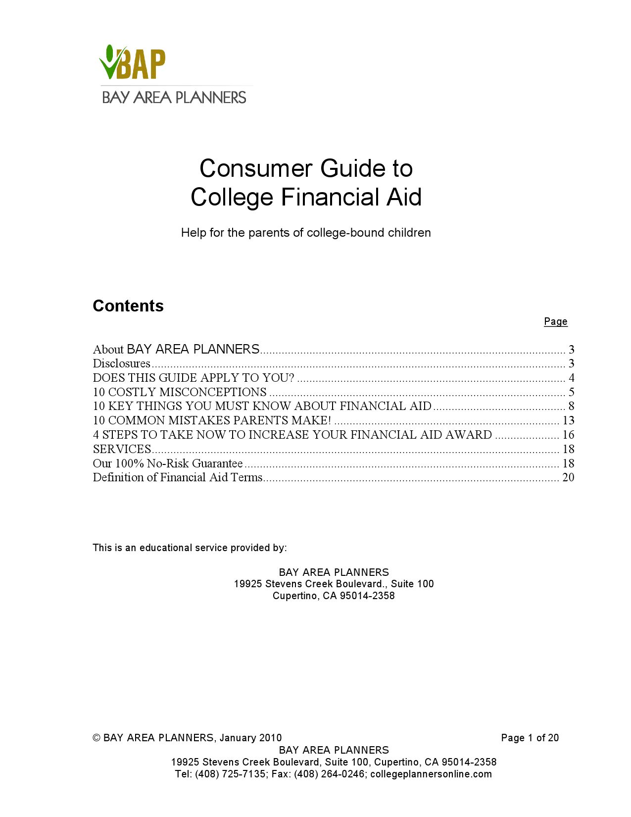consumer guide to college financial aid by david beck - issuu
