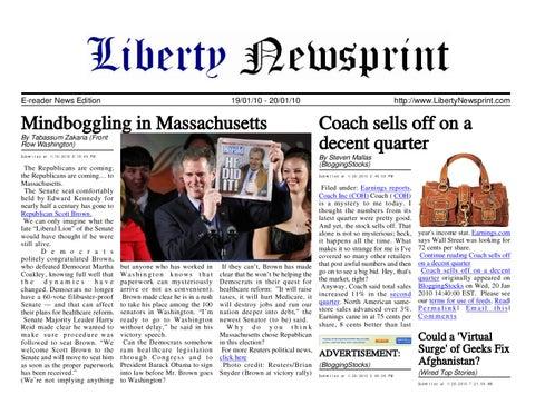 Liberty Newsprint Jan-20-10 by Liberty Newspost - issuu