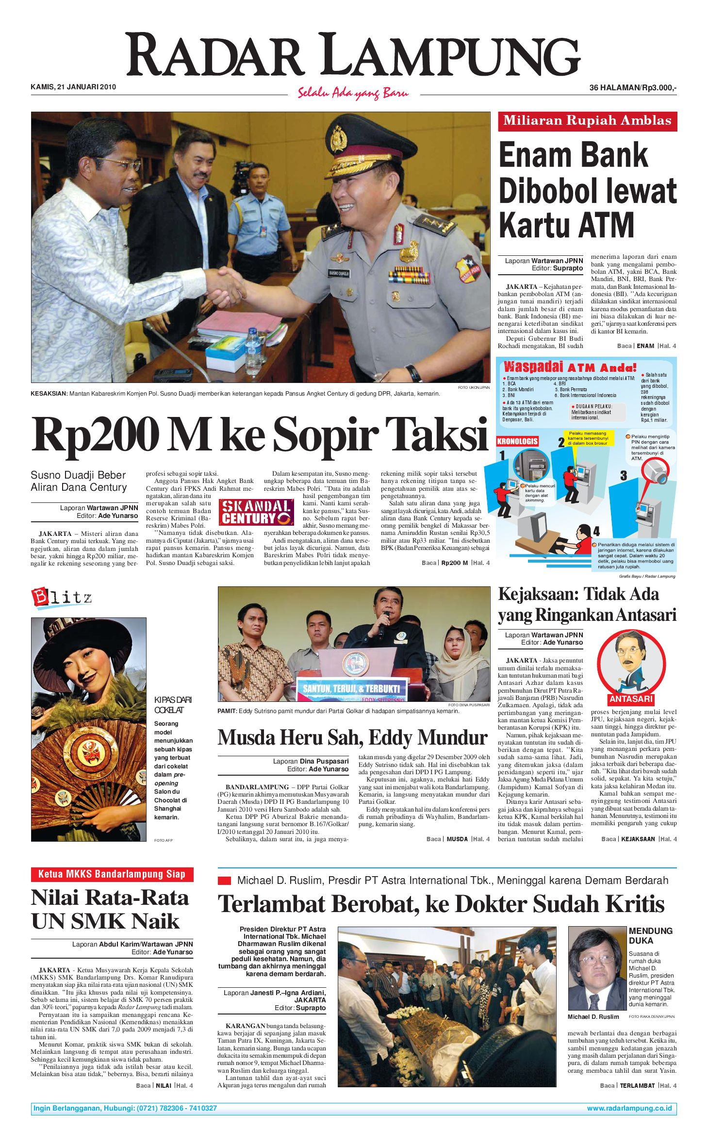Radar Lampung Kamis 21 Januari 2010 By Issuu Kacamata Safety Kerja Motor Kings Ky 713 Original