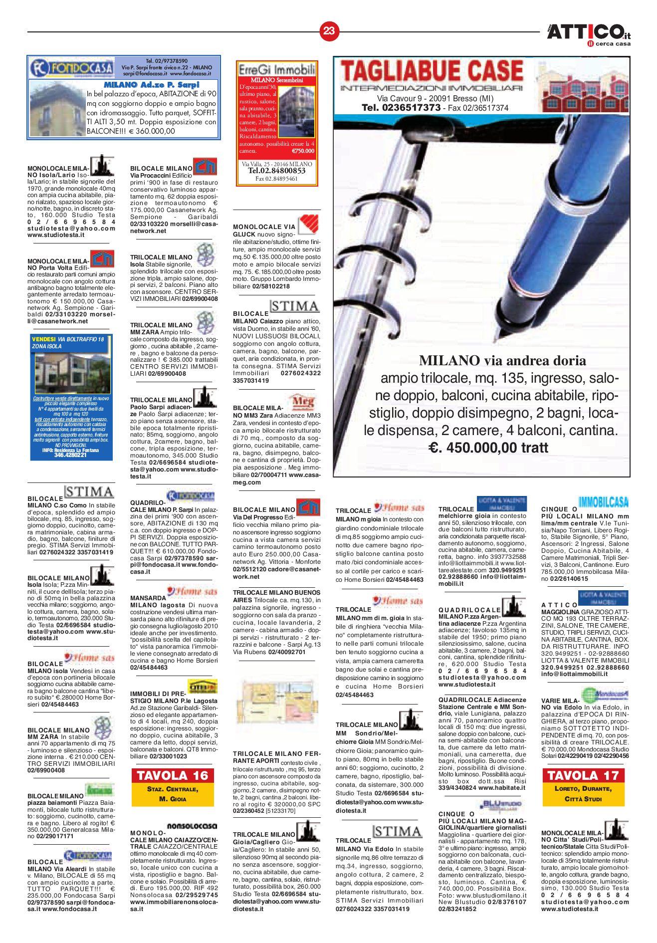 Attico Milano by B&P Editori - issuu