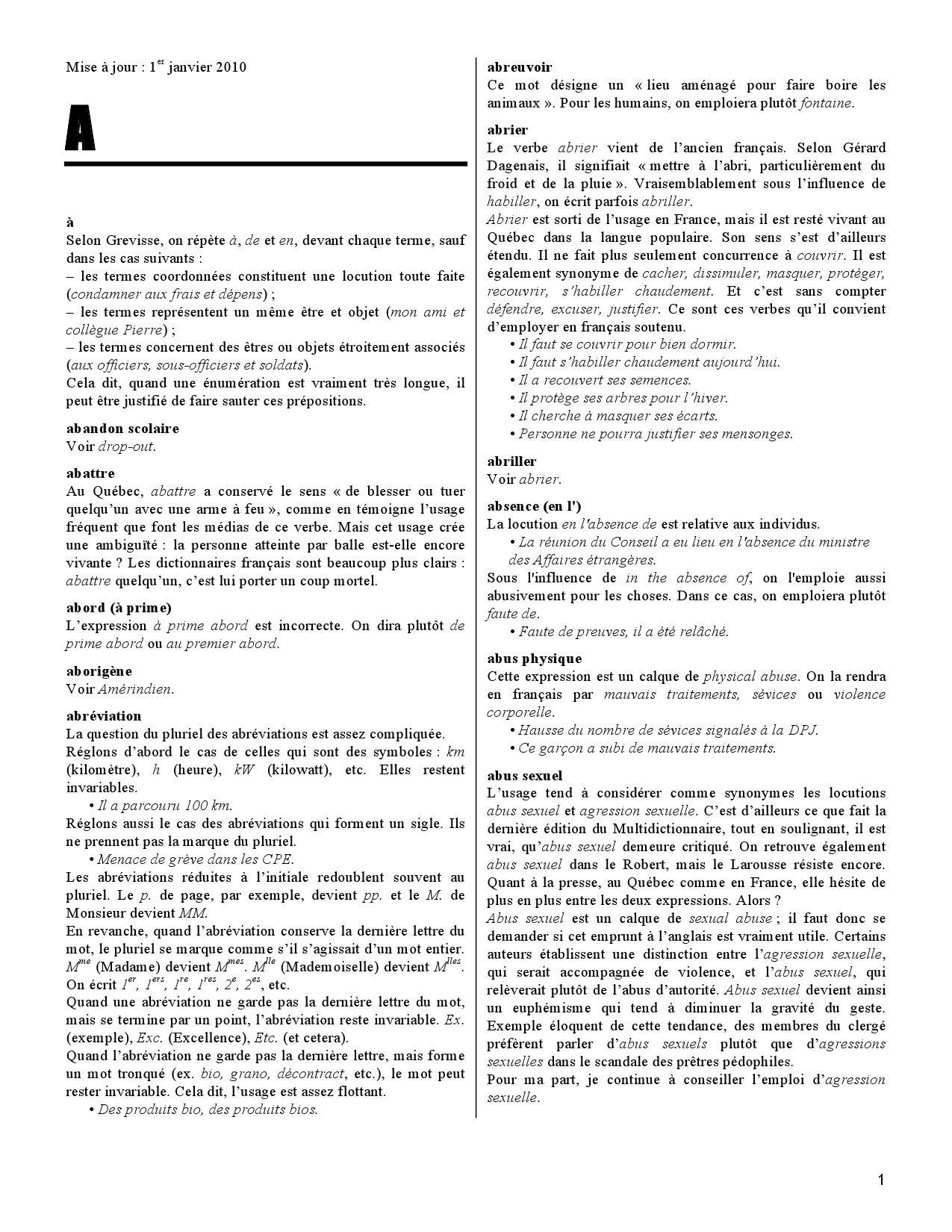 lexique des difficult u00e9s du fran u00e7ais dans les m u00e9dias by la presse