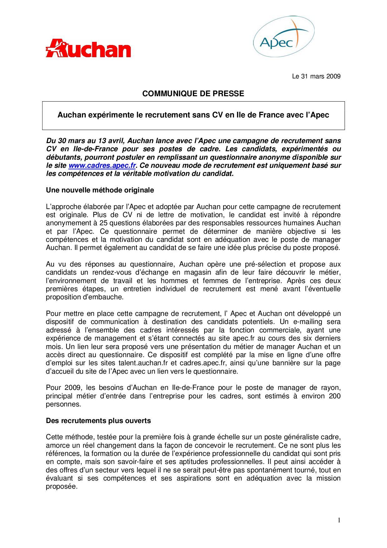 Auchan Apec Recrutement By Guillaume Seguin Issuu