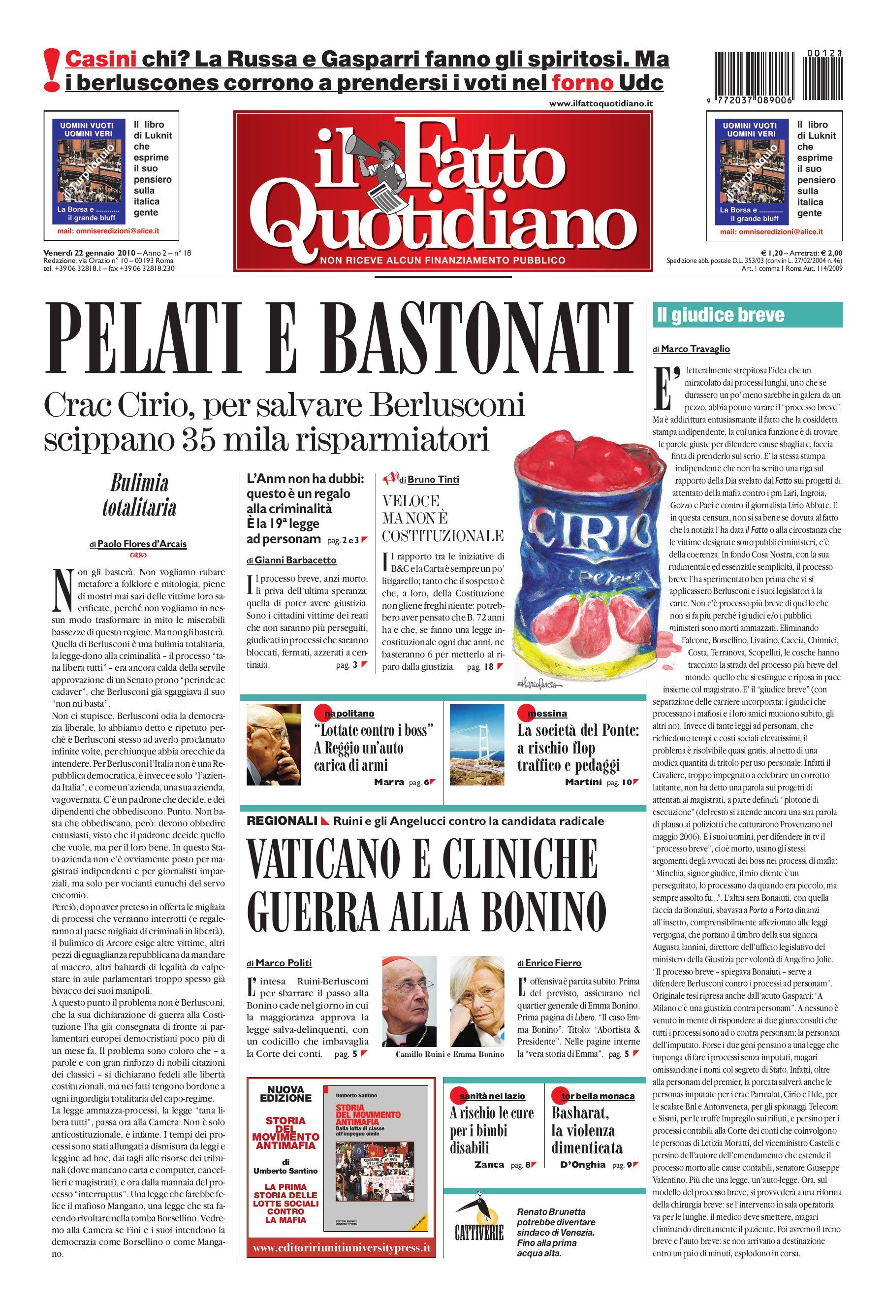 Il Fatto Quotidiano (22 Gennaio 2010) by Luigi Bosco - issuu a00888e74ef9