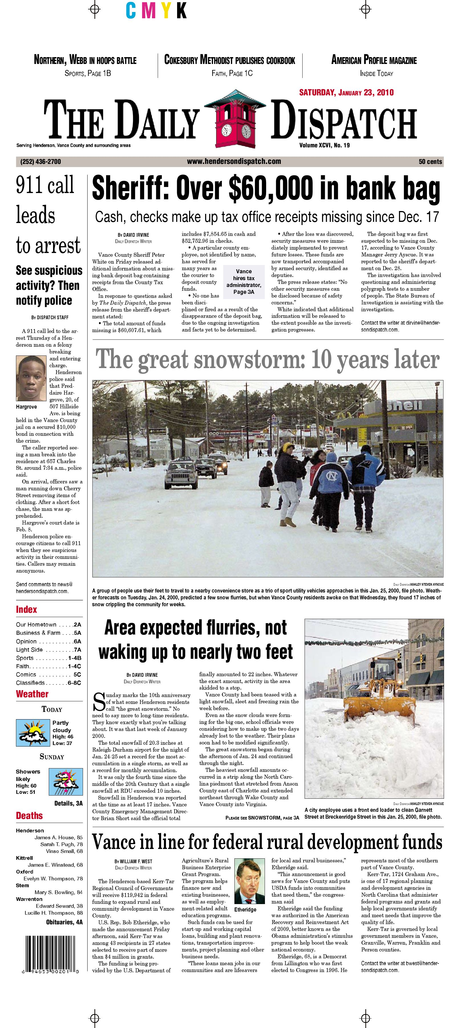 The Daily Dispatch - Saturday, January 23, 2010 by The Daily ...