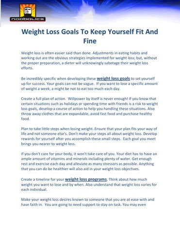 Rewards loss small weight goal