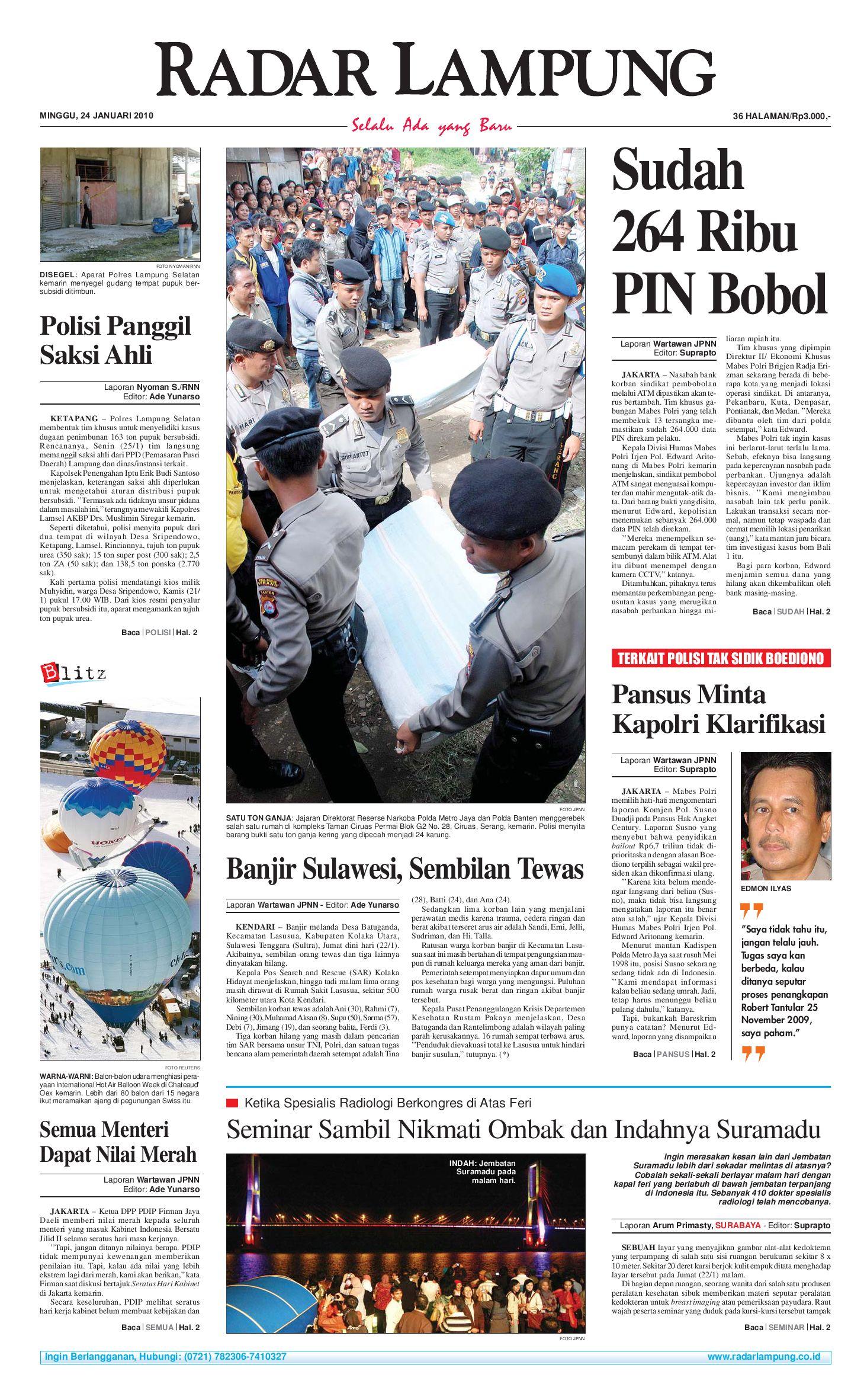 Radar Lampung Minggu 24 Januari 2010 By Issuu Parcel Makanan Ampamp Keramik Pja 1608
