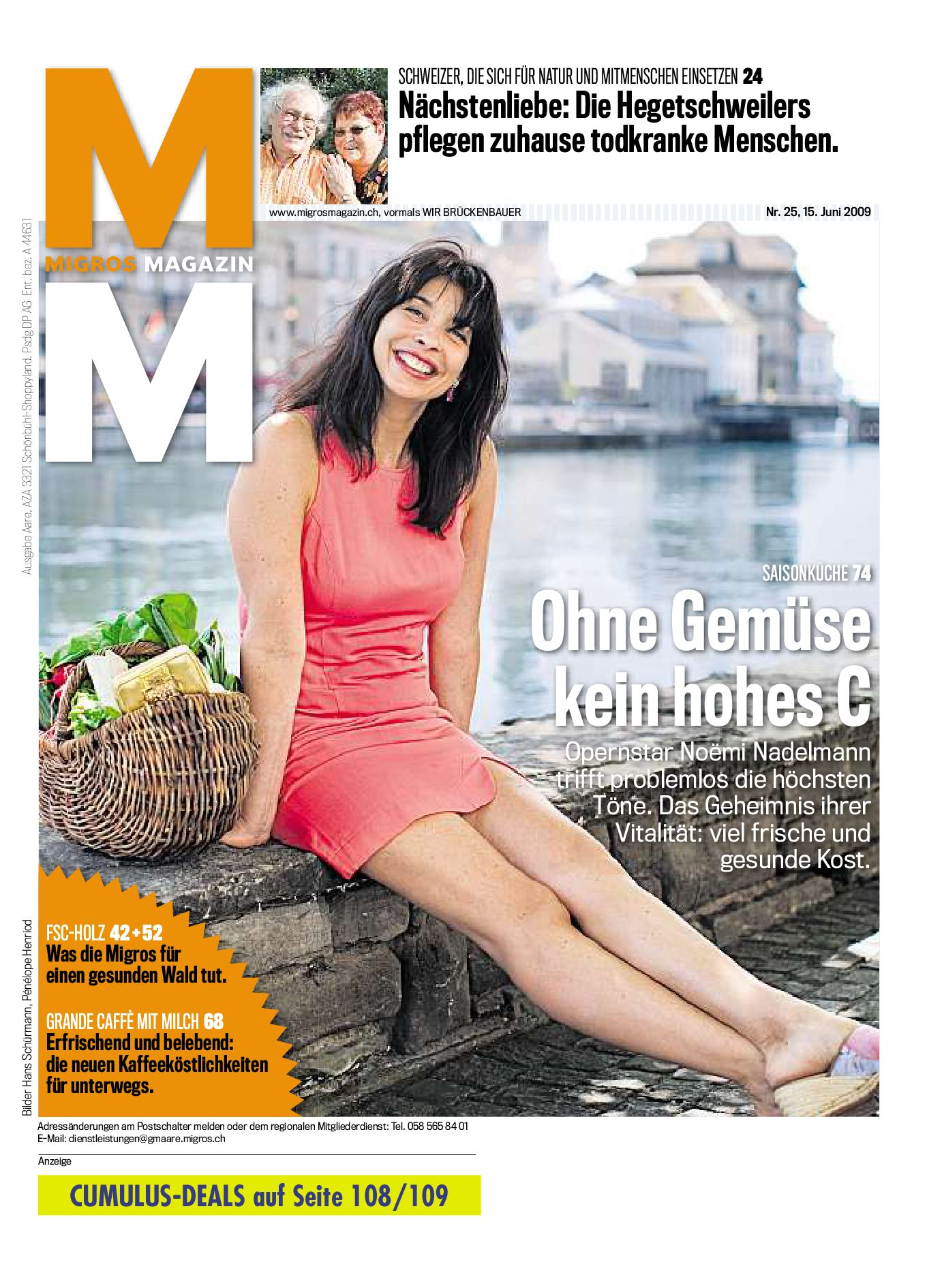 Migros Magazin 25 2009 d AA by Migros-Genossenschafts-Bund - issuu