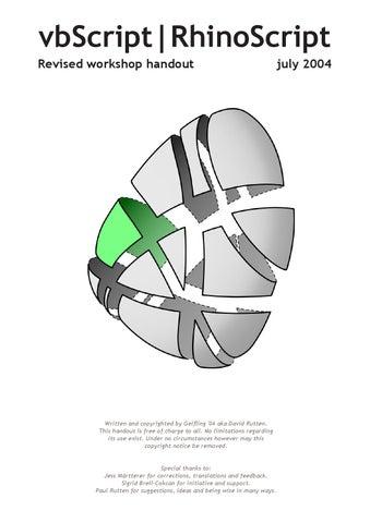 vbscript rhinoscript revised workshop handout pdf
