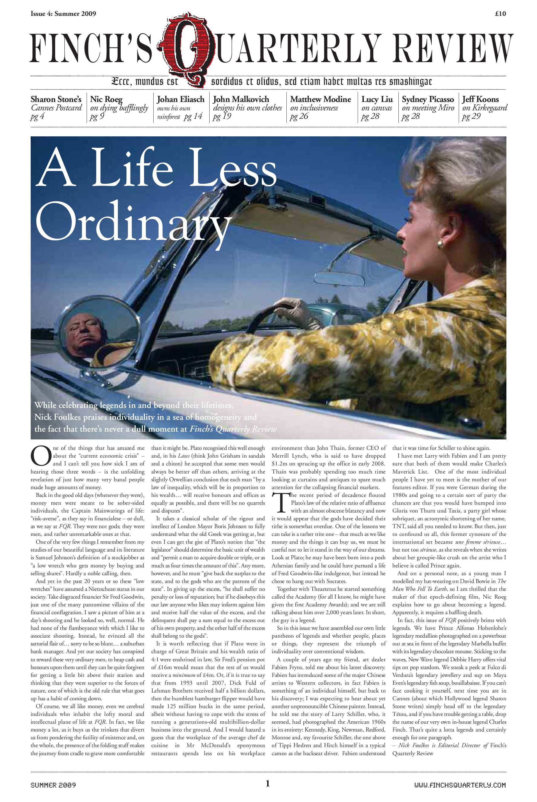 Finch\'s Quarterly Review Issue 4 by Tristram Fetherstonhaugh - issuu