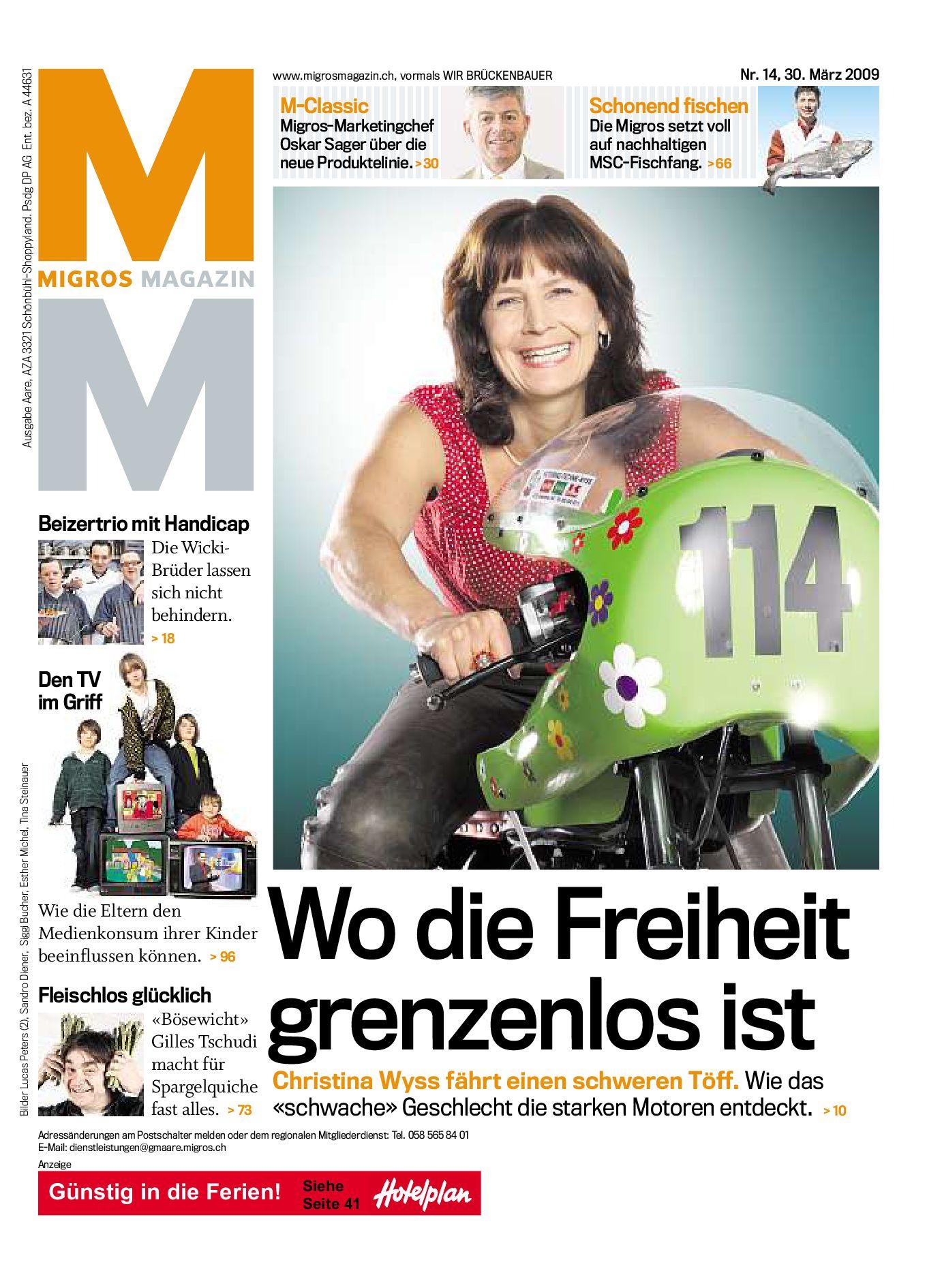 Migros Magazin 14 2009 D Bl By Migros Genossenschafts Bund Issuu