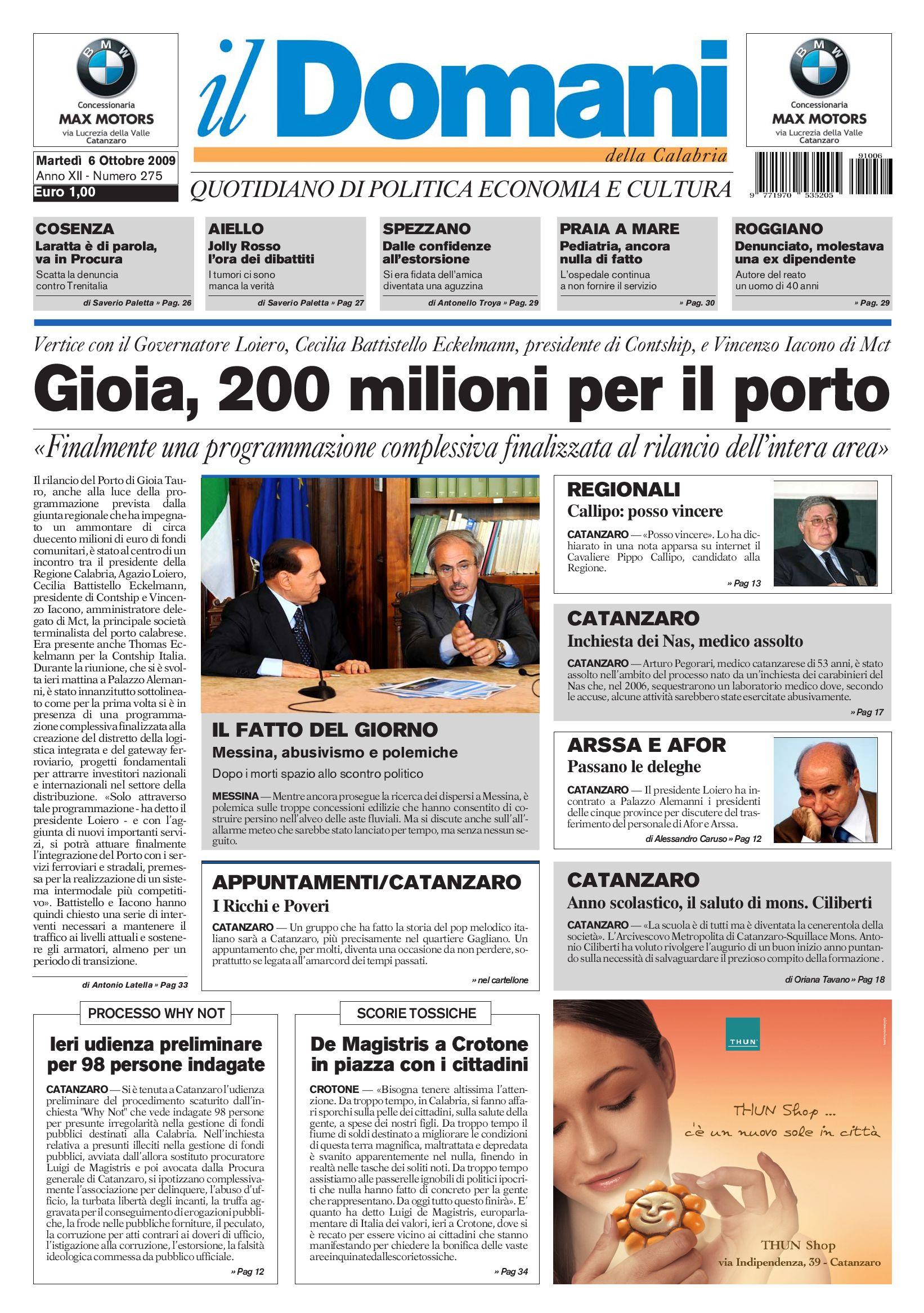 il domani by T P Editori il Domani - issuu e65a1f71776