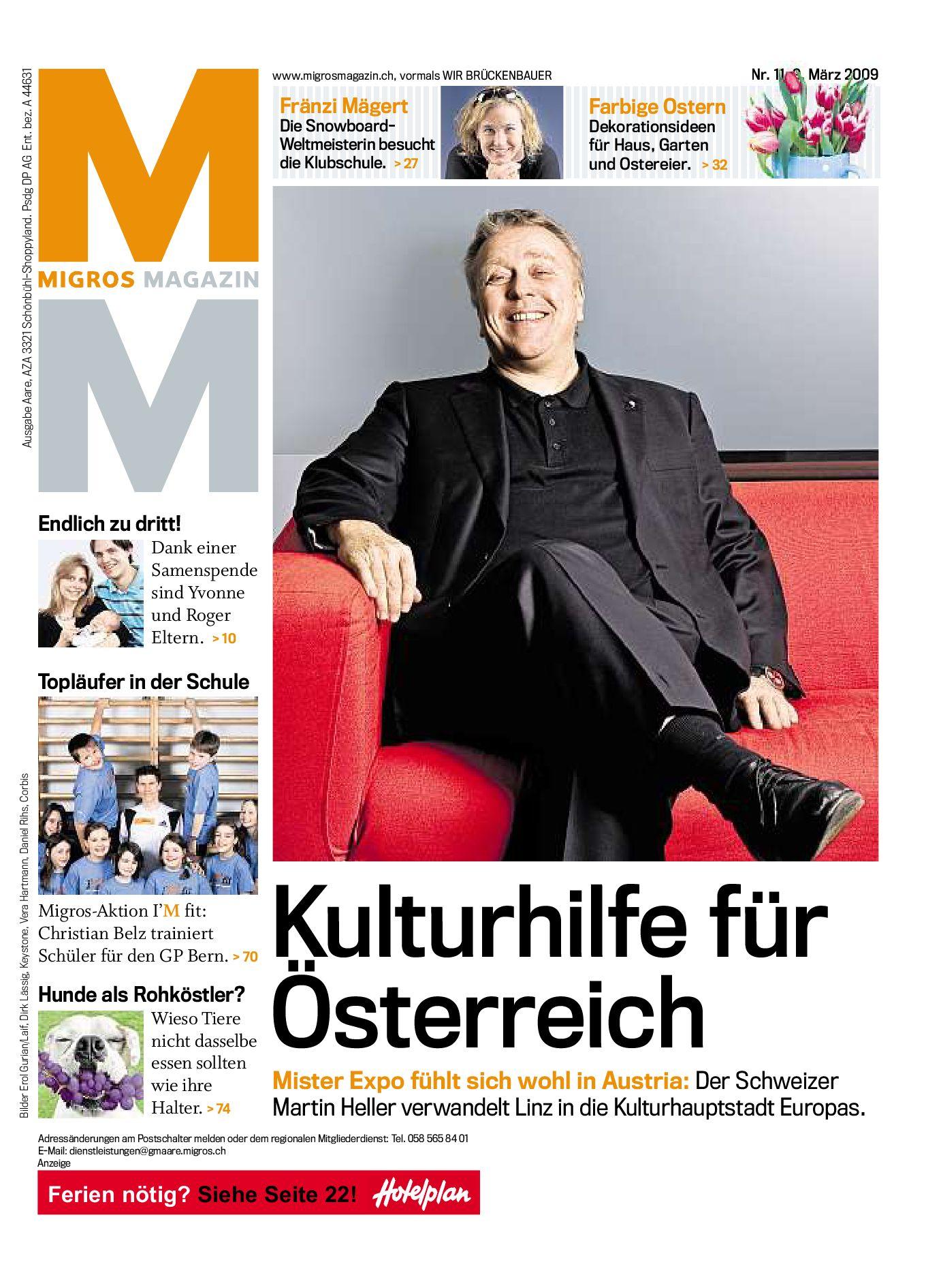 Migros Magazin 11 2009 d LU by Migros Genossenschafts Bund issuu