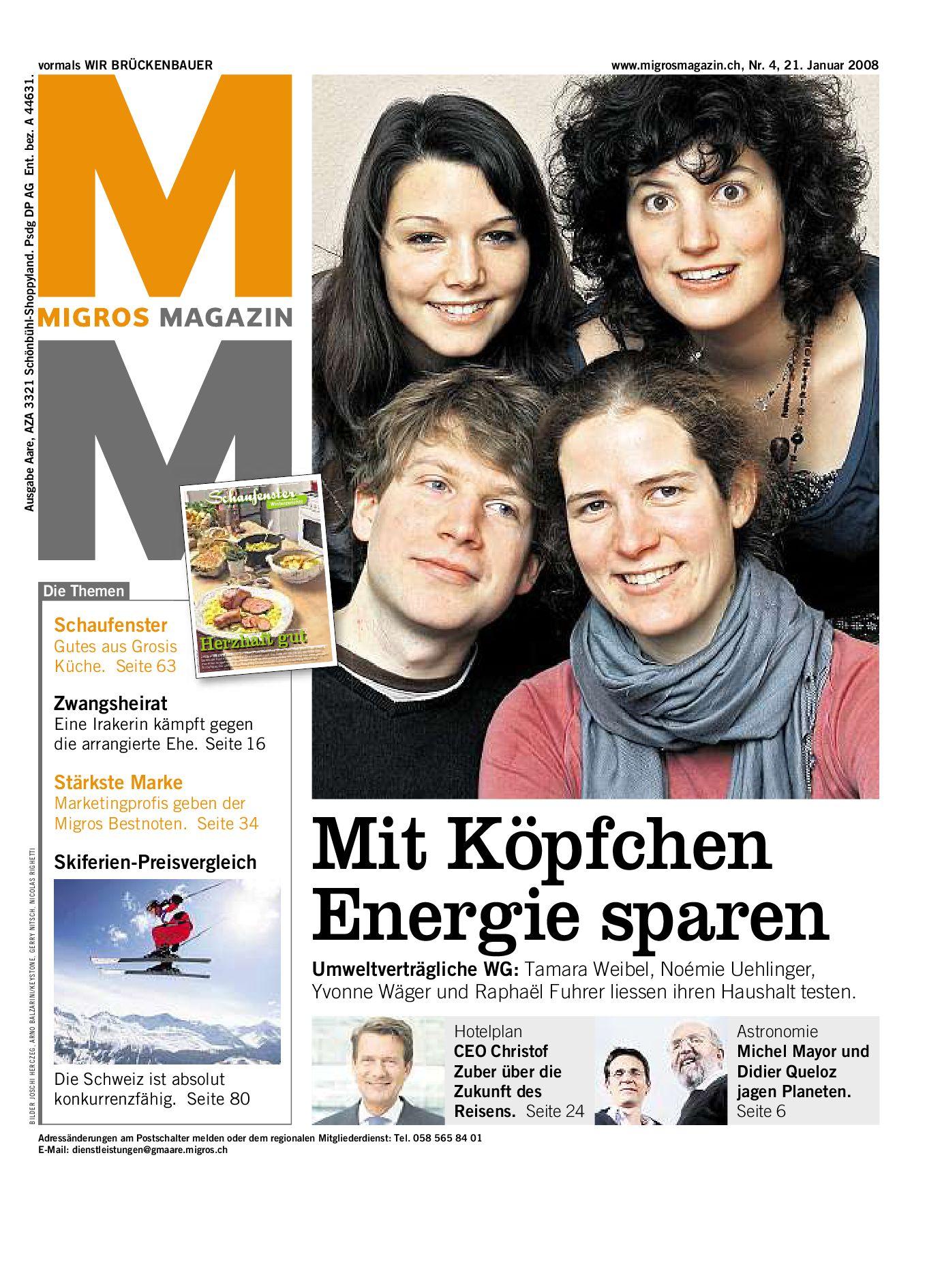 Migros Magazin 4 2008 d LU by Migros-Genossenschafts-Bund - issuu