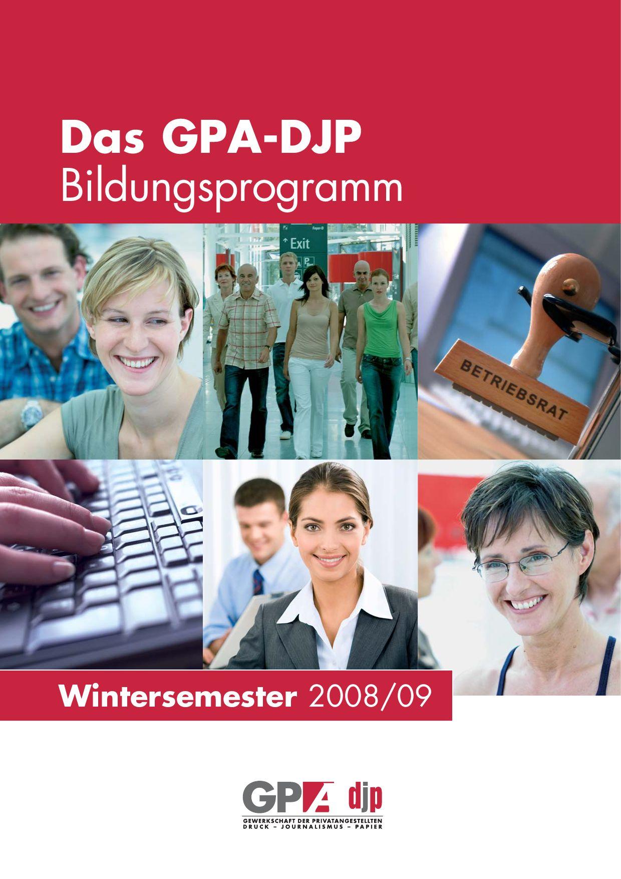 Bildungsprogramm WS 2008/2009 by Werner Drizhal - issuu