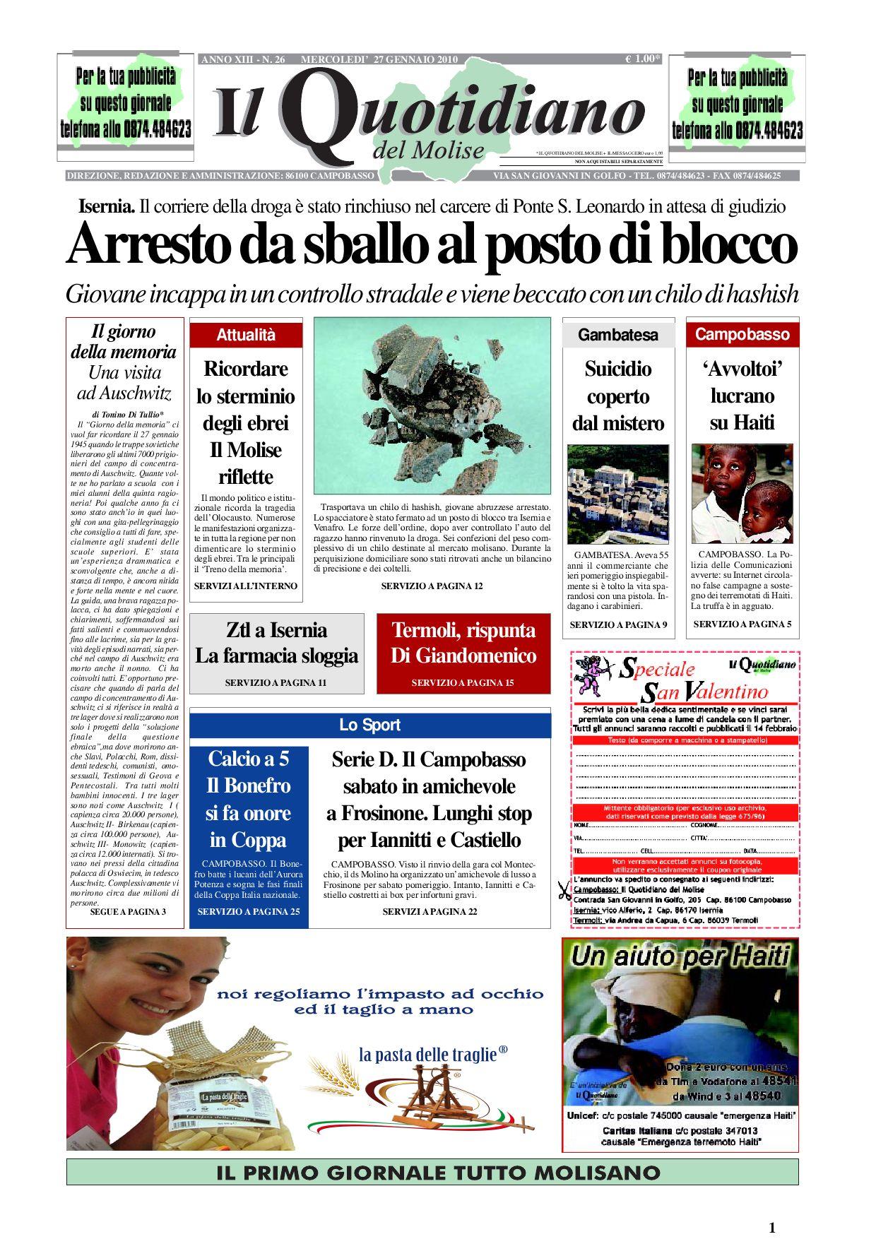 e99653949ad5d5 quotidianomolise 27-01 by giovanni testa - issuu