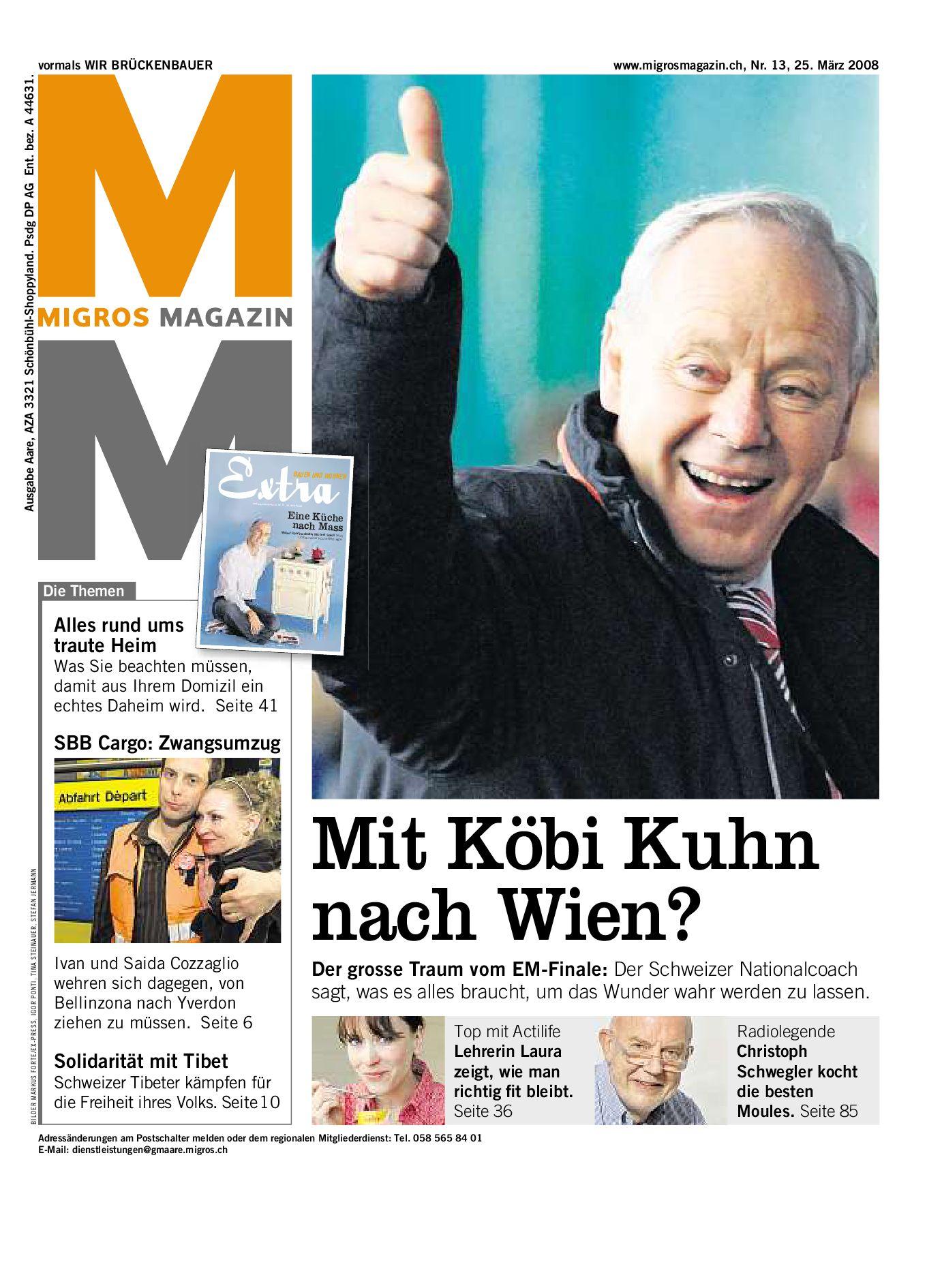 Migros Magazin 13 2008 d ZH by Migros-Genossenschafts-Bund - issuu