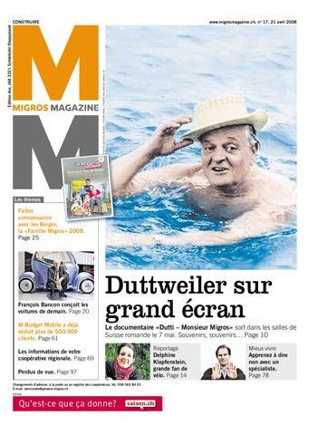 Migros Magazin 17 2008 f GE by Migros-Genossenschafts-Bund - issuu a50849d001d5