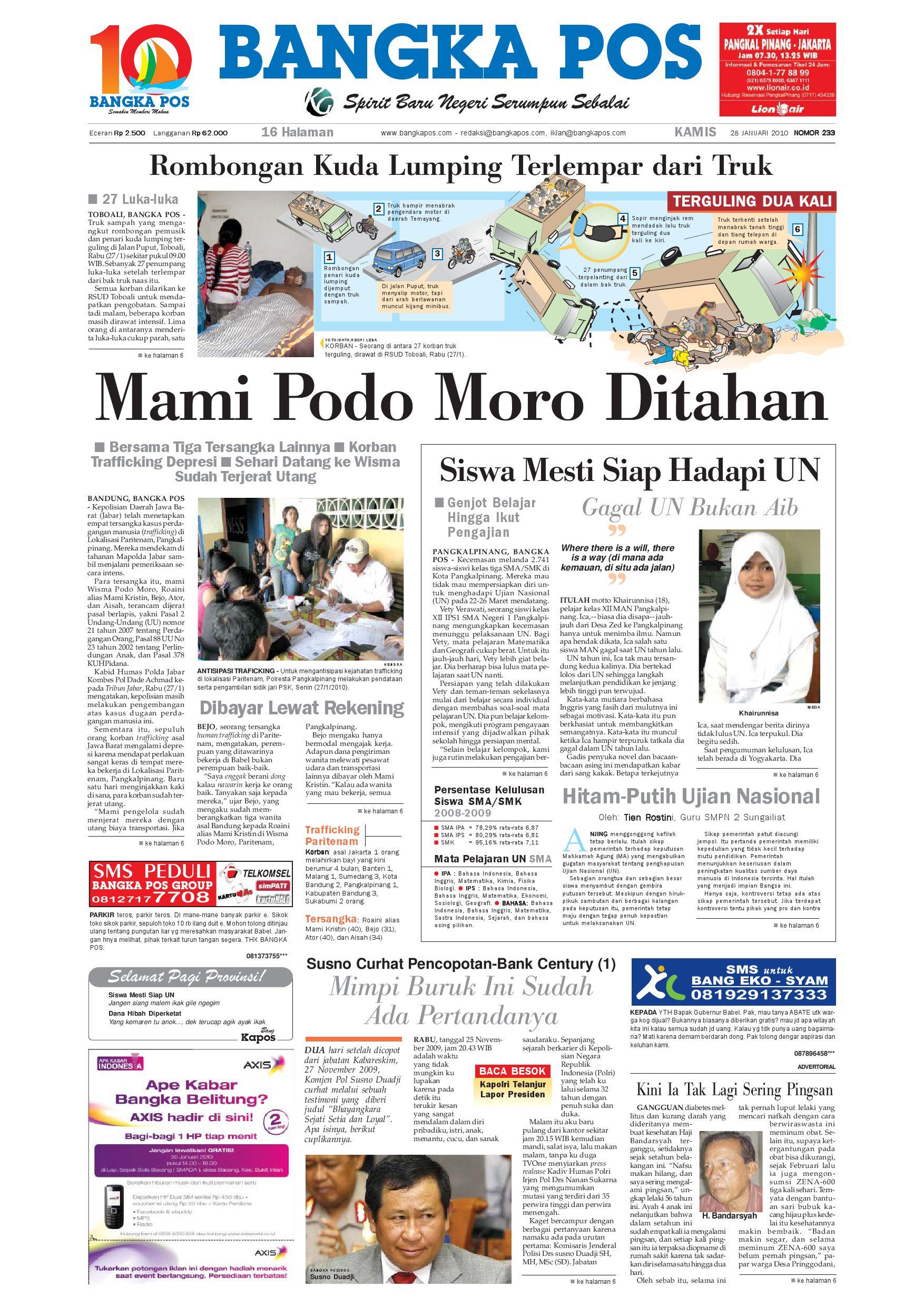 Harian Pagi Bangka Pos Edisi 28 Januari 2010 By Issuu Produk Ukm Bumn Tas Phiton Kembang Orchid