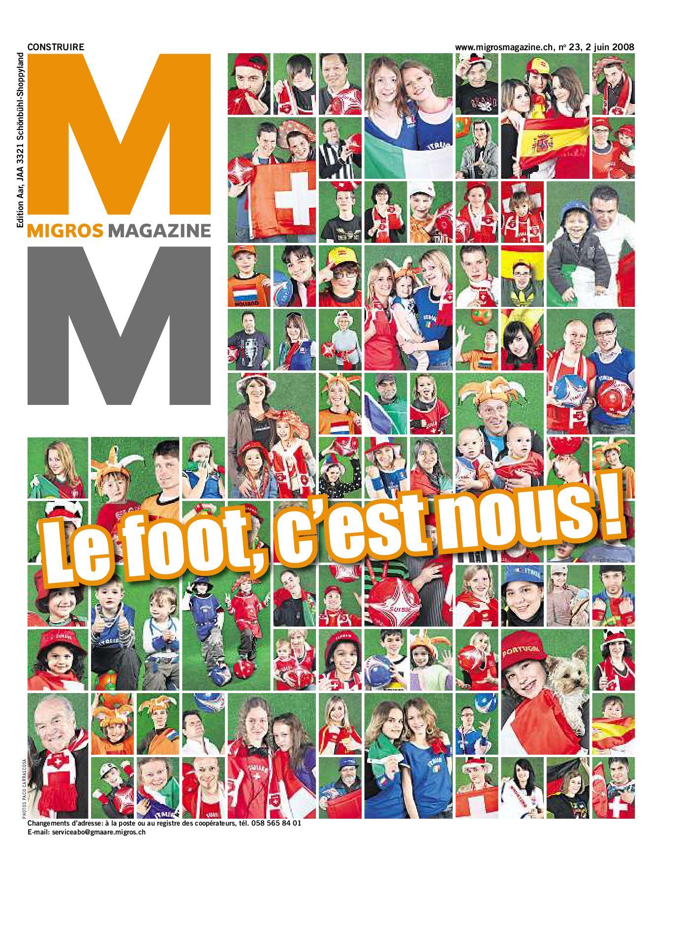 Migros Magazin 23 2008 f VD by Migros-Genossenschafts-Bund - issuu fe830f563345