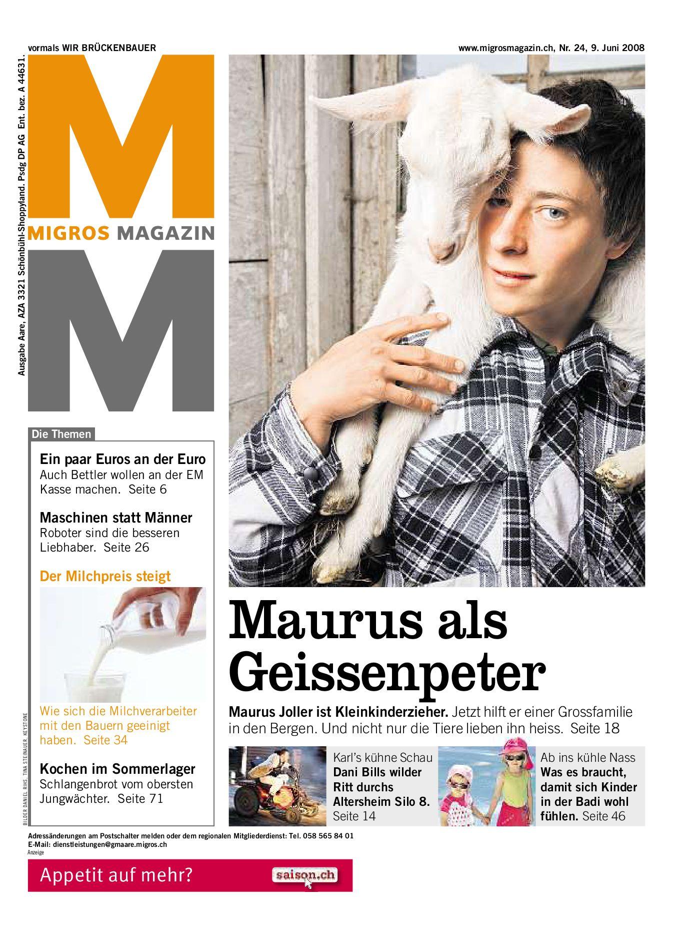 Migros Magazin 24 2008 d LU by Migros-Genossenschafts-Bund - issuu