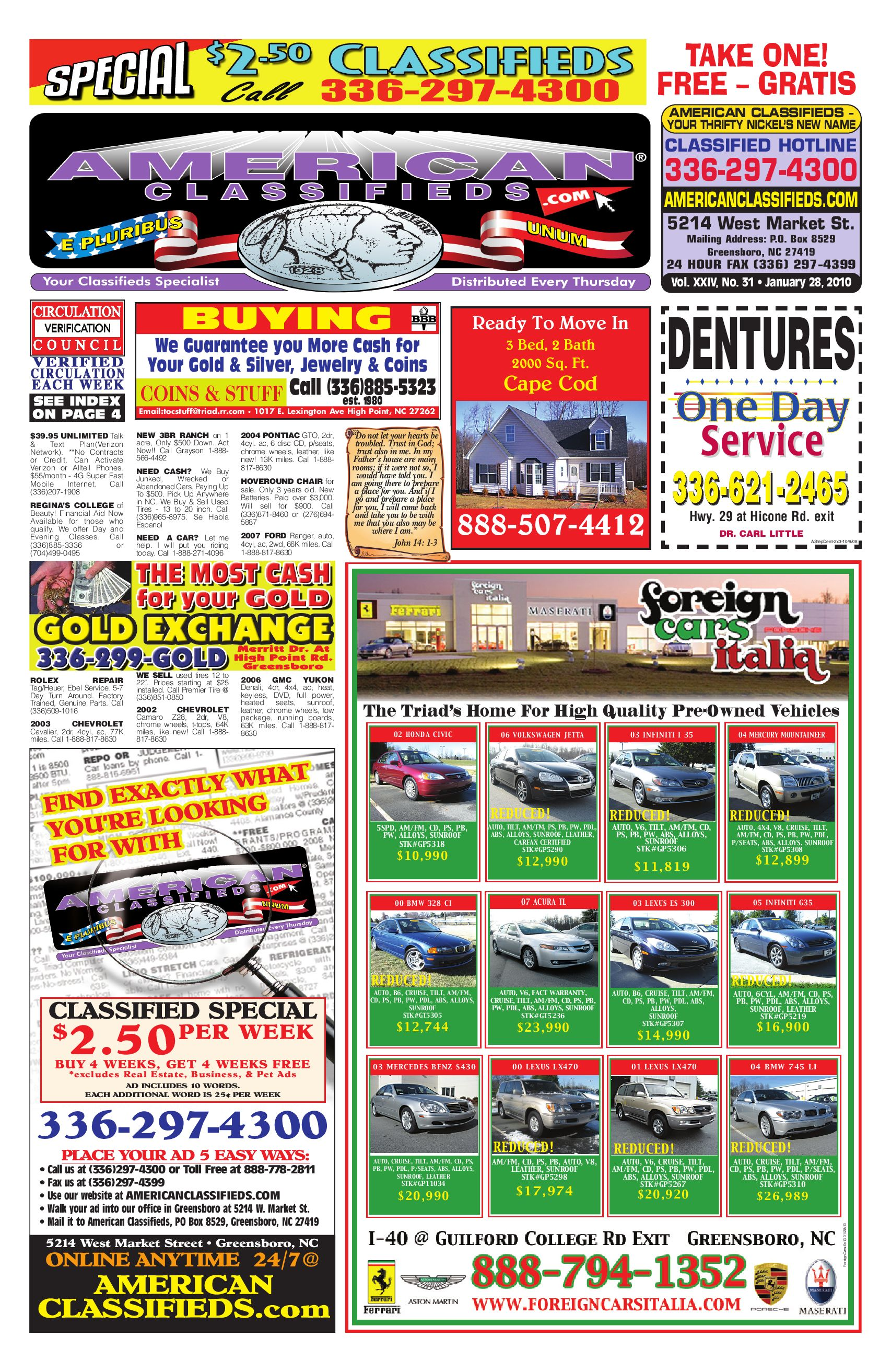 American Classifieds of Greensboro by American Classifieds - issuu